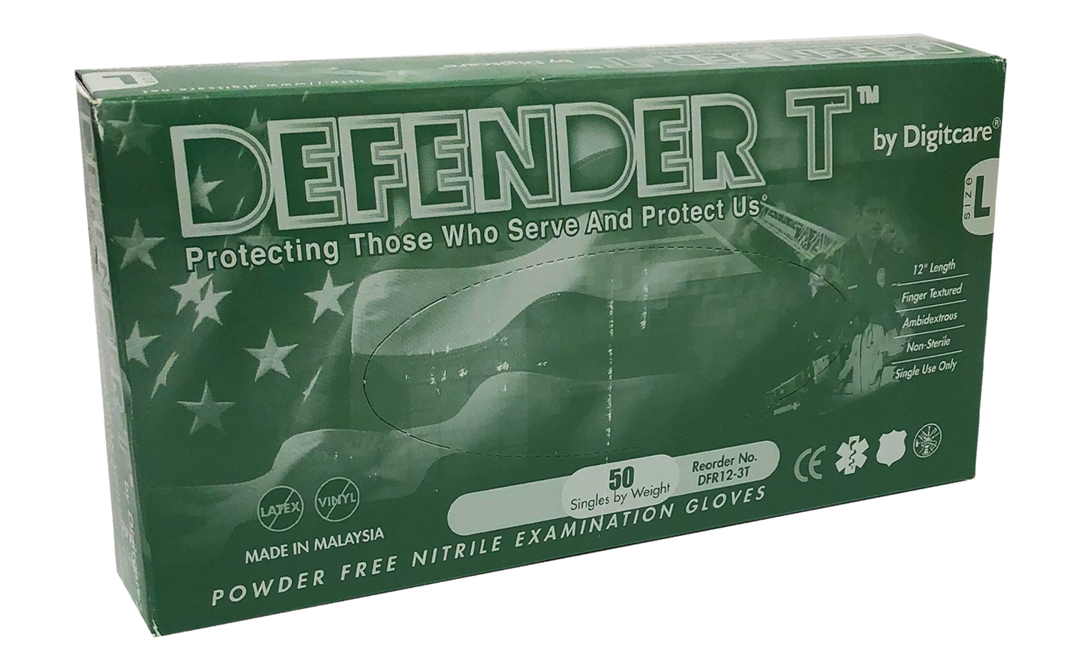 Defender T™ Powder-Free Nitrile Exam Gloves