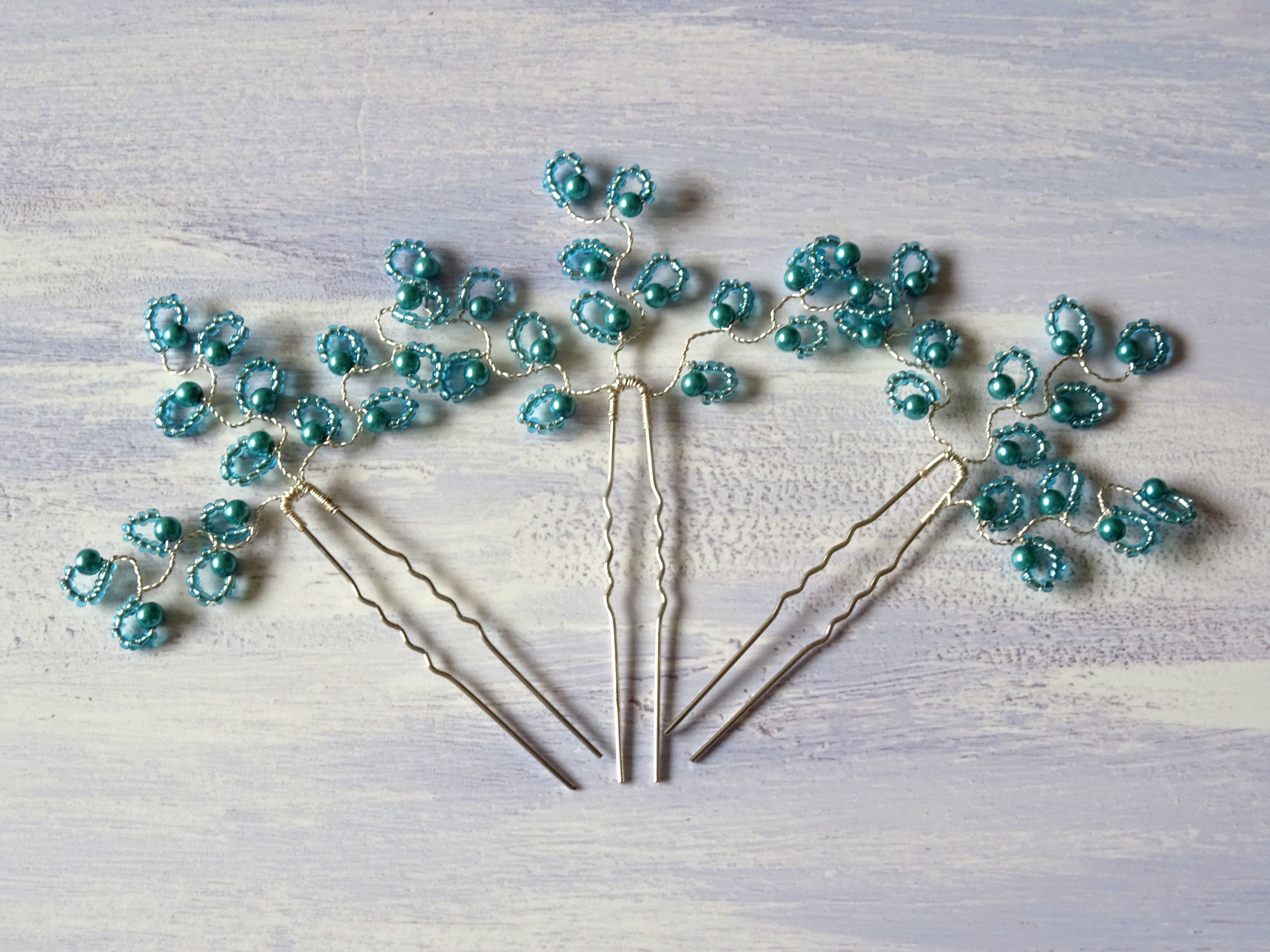 hair pins for bridesmaids or proms, colour matching service.JPG