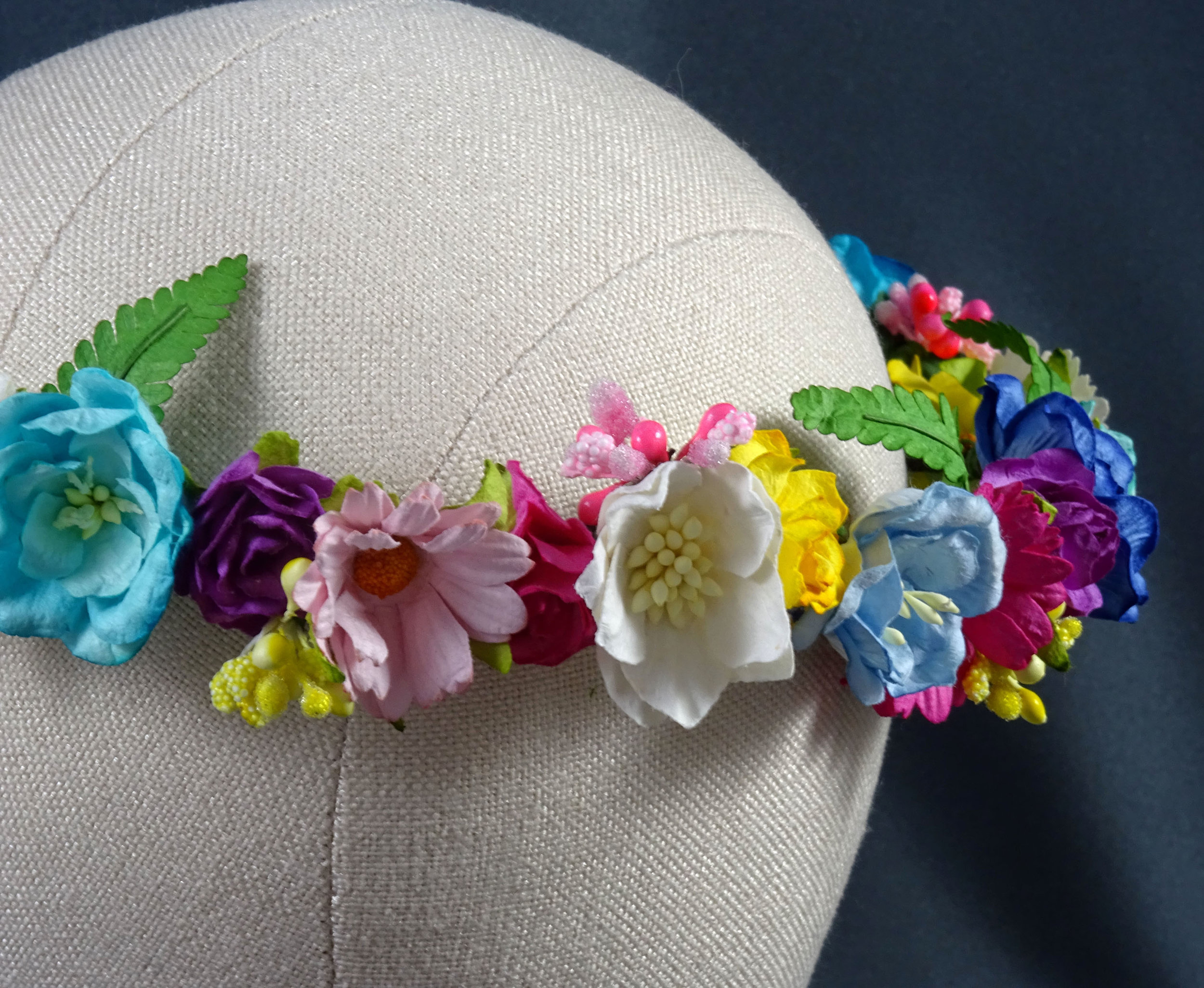 boho flower crown paper flowers festival fashion.JPG