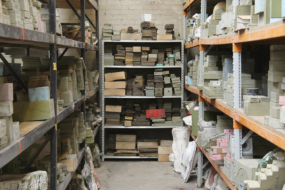 Mould Archive - With a long history behind us we have built up over 35,000 moulds which are stored in our archive, dating from around 1958 to the present day.Through maintaining this archive we enable our clients to produce new editions, recommission pieces, and request specific parts for years to come. Every new mould is catalogued and added to the archive after use so future managers of the Wax Shop can easily access them in the future.