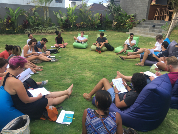 Our first tribe personal-goals meeting ... ah, good times