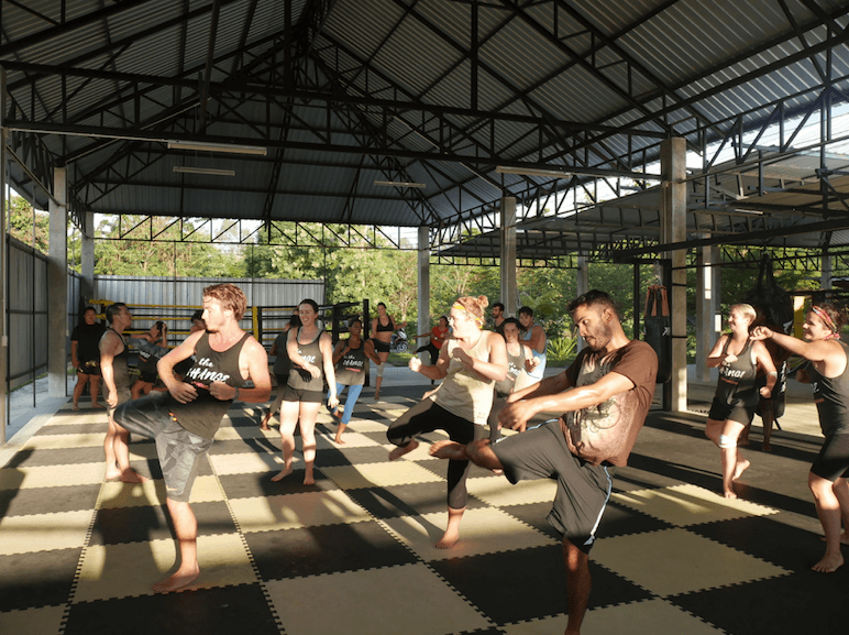Our first SE Asia tribe learning how to kick some ass through Muay Thai in Chiang Mai.