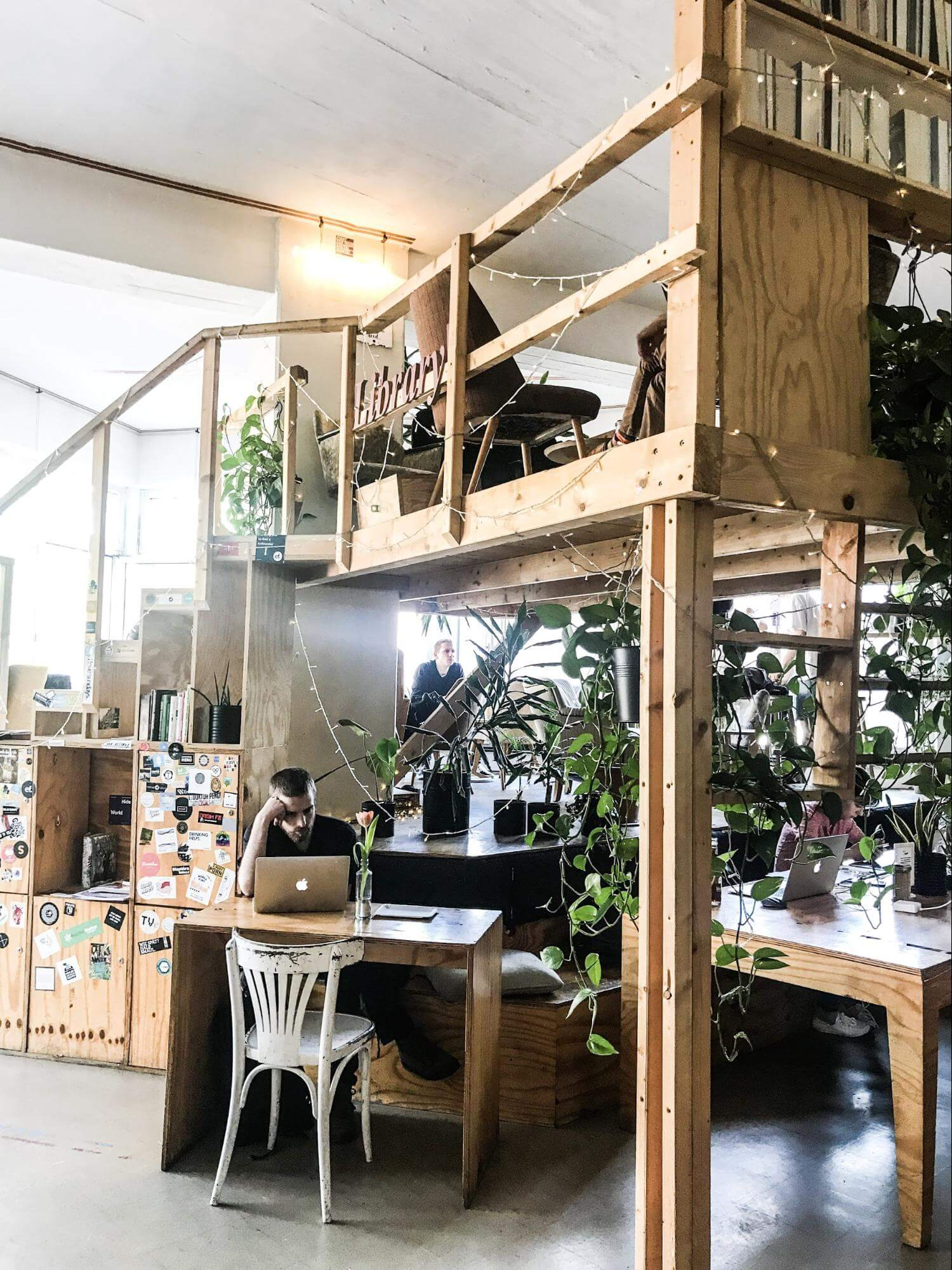Enough levels and crooks and nannies to find your perfect spot at the Betahaus, Berlin.