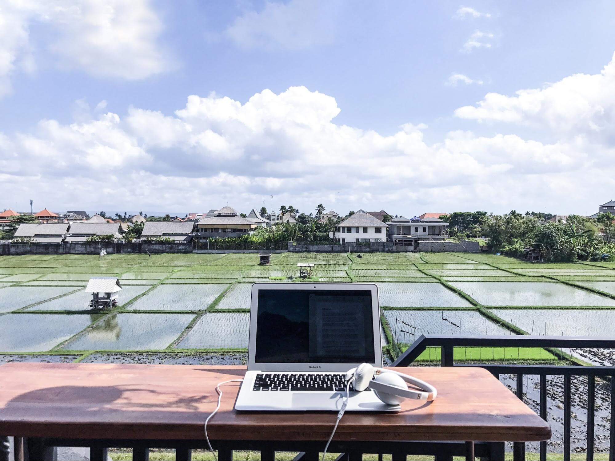 Find me a person who couldn't find this view inspiring. Captured from COOH House in Canggu, Bali.