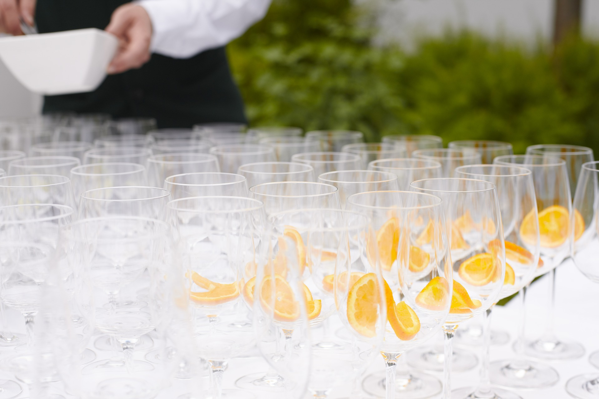 LUXE Catering Tallahassee Florida Champagne Glasses