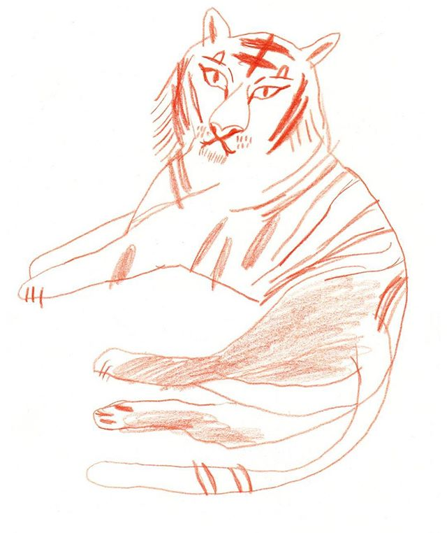 Tiger #boekieboekie #jungle #junglebook #illustration #magazine