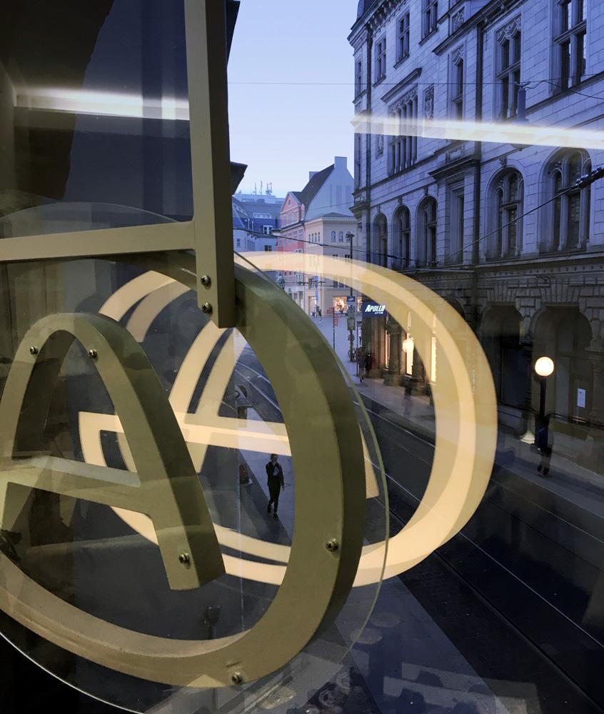 Blick von unserer Galerie zum Marktplatz in Halle