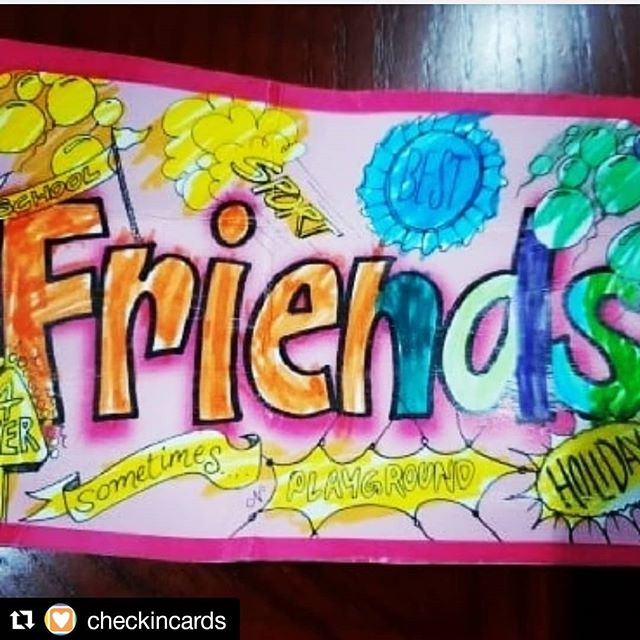 Thinking about out friends this ✨Flashback Friday ✨ Are you catching up with mates these holidays? ・・・ We make #friends at school, sport, on holidays, next door. There are #bestfriends and #sometimes friends, and each one we enjoy because they make us feel good. Helping kids appreciate their friends also gives them insight into themselves. 💕 We love the enthusiastic colouring in from this little groover 😁