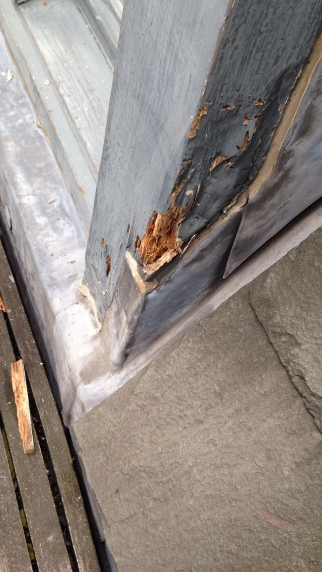 Typical repairs to timber windows throughout