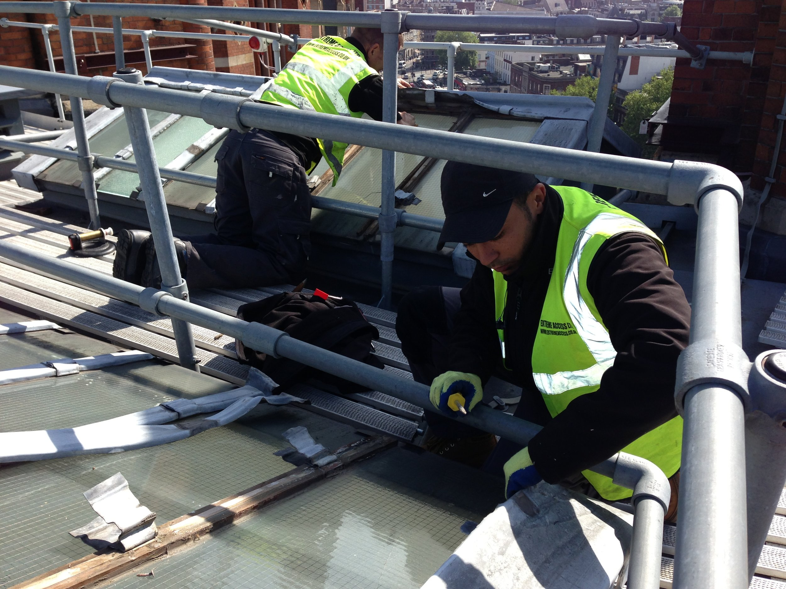 Roofing works and glazing replacements