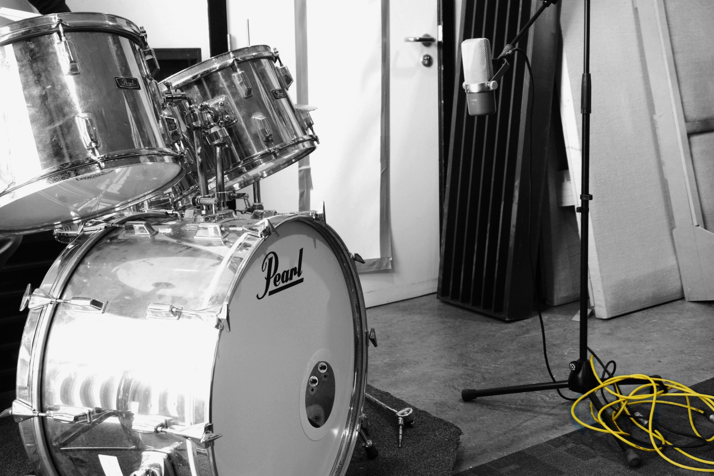 Opleiding muziekproductie: recording drums