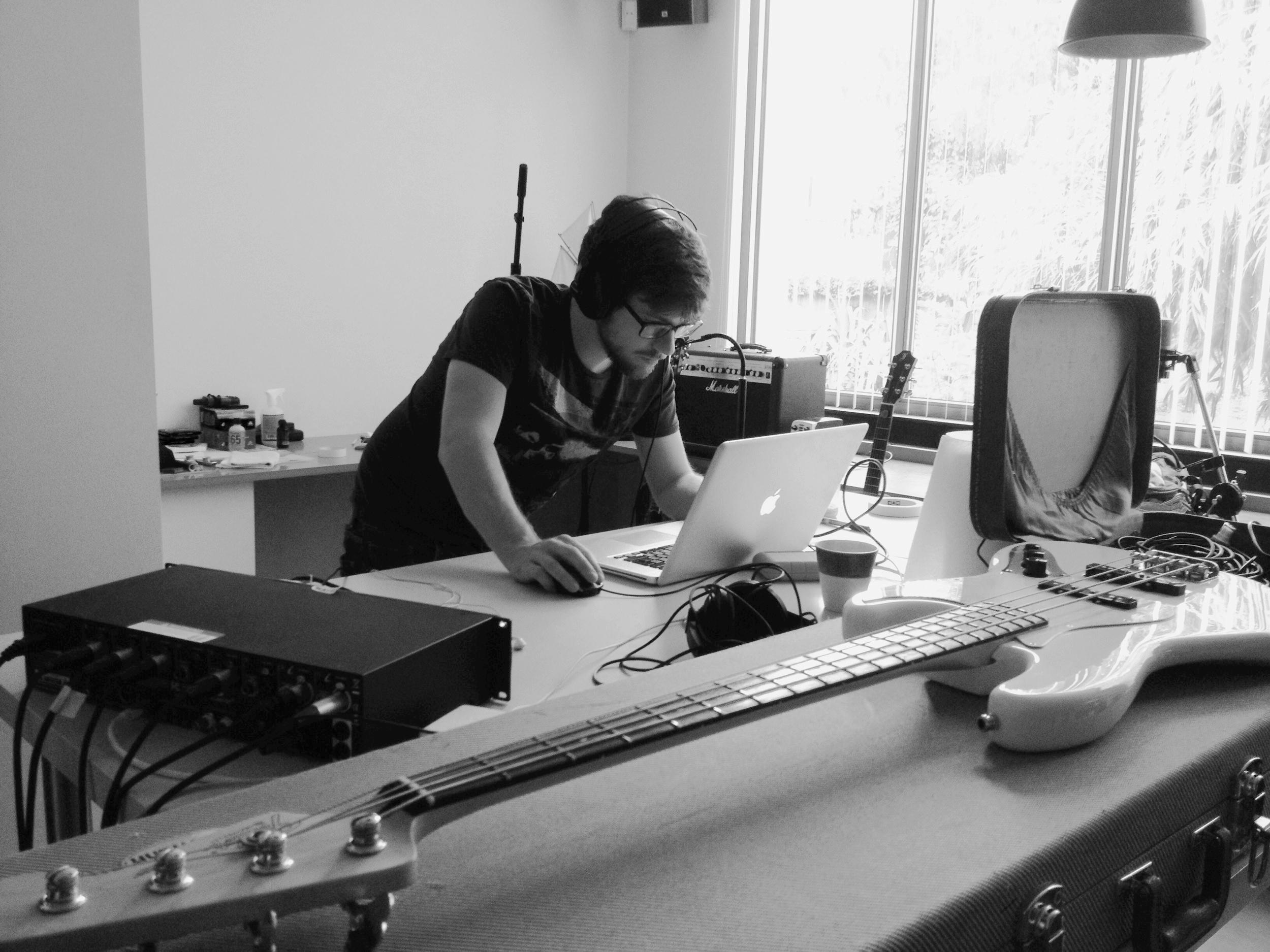 Opleiding muziekproductie: bass recording