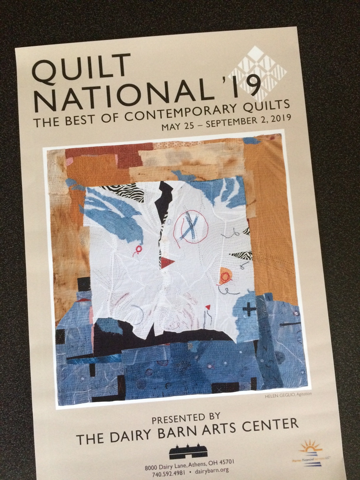 Personalized poster for QN 2019, given to each exhibiting artist.