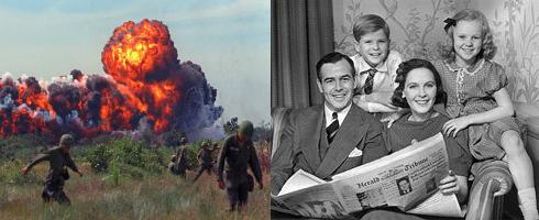 Left: Vietnam War |Right: All-American Family.