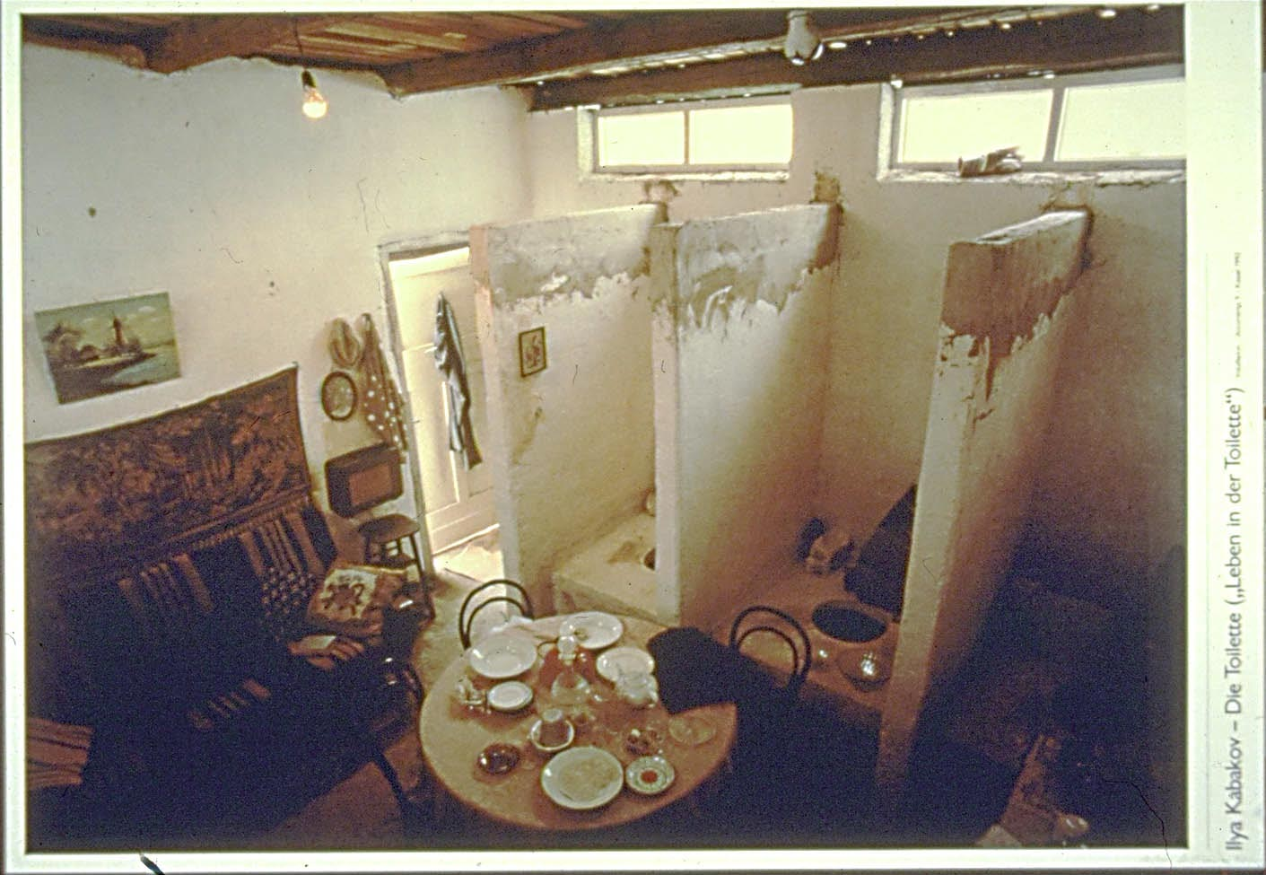 Another of Ilya and Emilia Kabakov's installations,  The Toilet, erected in 1992 for Documenta IX in Kassel, Germany. Photo Courtesy of the Columbia University.