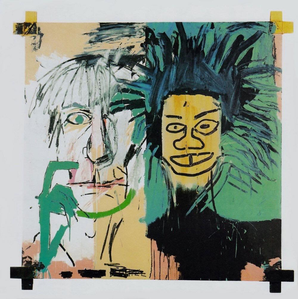 Dos Cabezas, a 1982 self-portrait of Jean-Michel Basquiat alongside Andy Warhol.