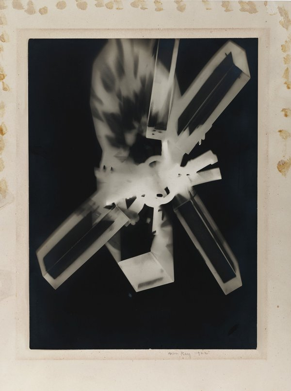 Man Ray,  Rayograph , 1922, Private Collection © Man Ray Trust/ADAGP, Paris and DACS, London 2018.