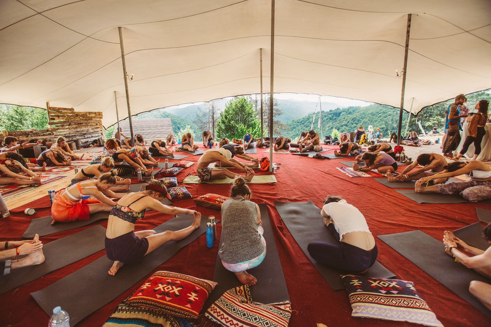 The festival offers a smorgasbord of activity, including workshops, yoga classes and more.