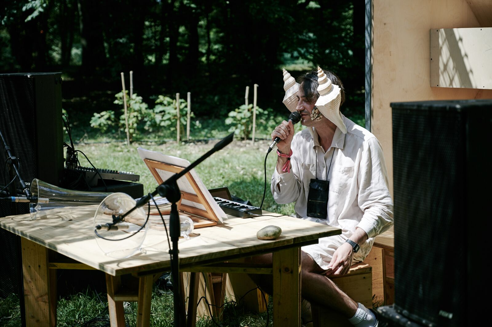 Other delights included Francesco Cavaliere reading the DNA CLEPSYDRA. Pic by  Francesco Margaroli