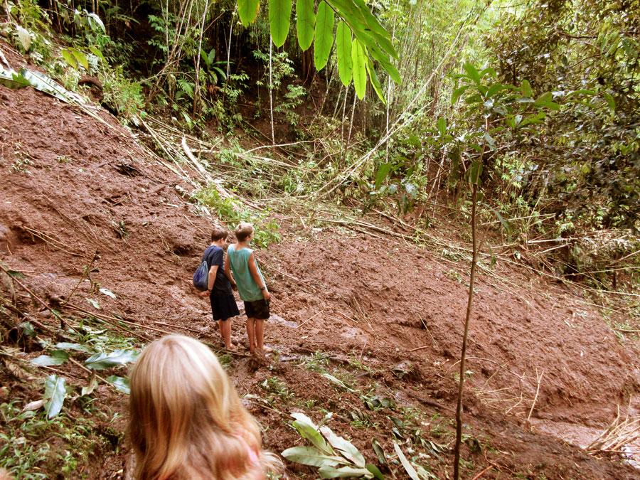 Surveying the damage of a landslide