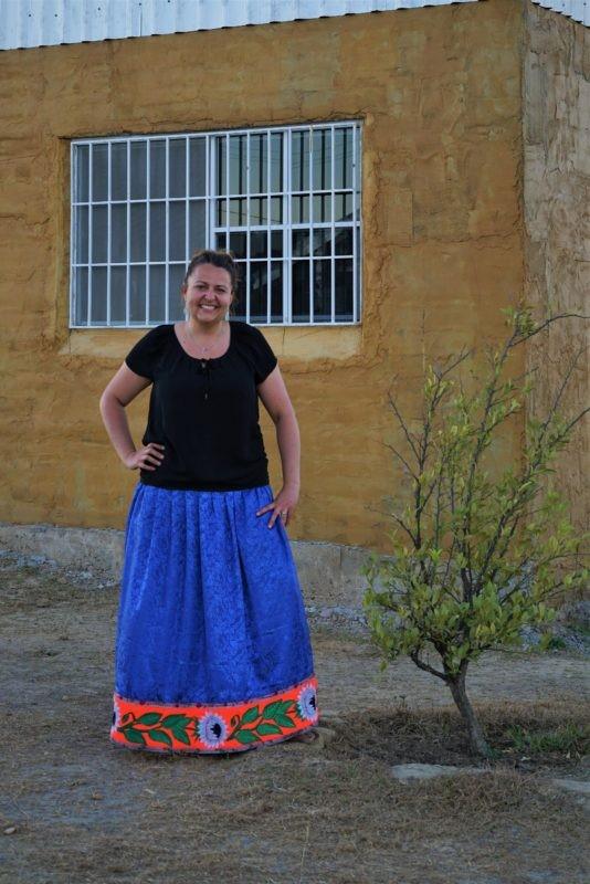 Beth in Nahuatl Dress