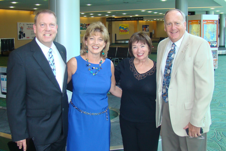 Bill McGrew, Colleen Picard, Alison Hoefler & Marty Post @ PIE Press Conference - 1, 24 Apr '13.JPG