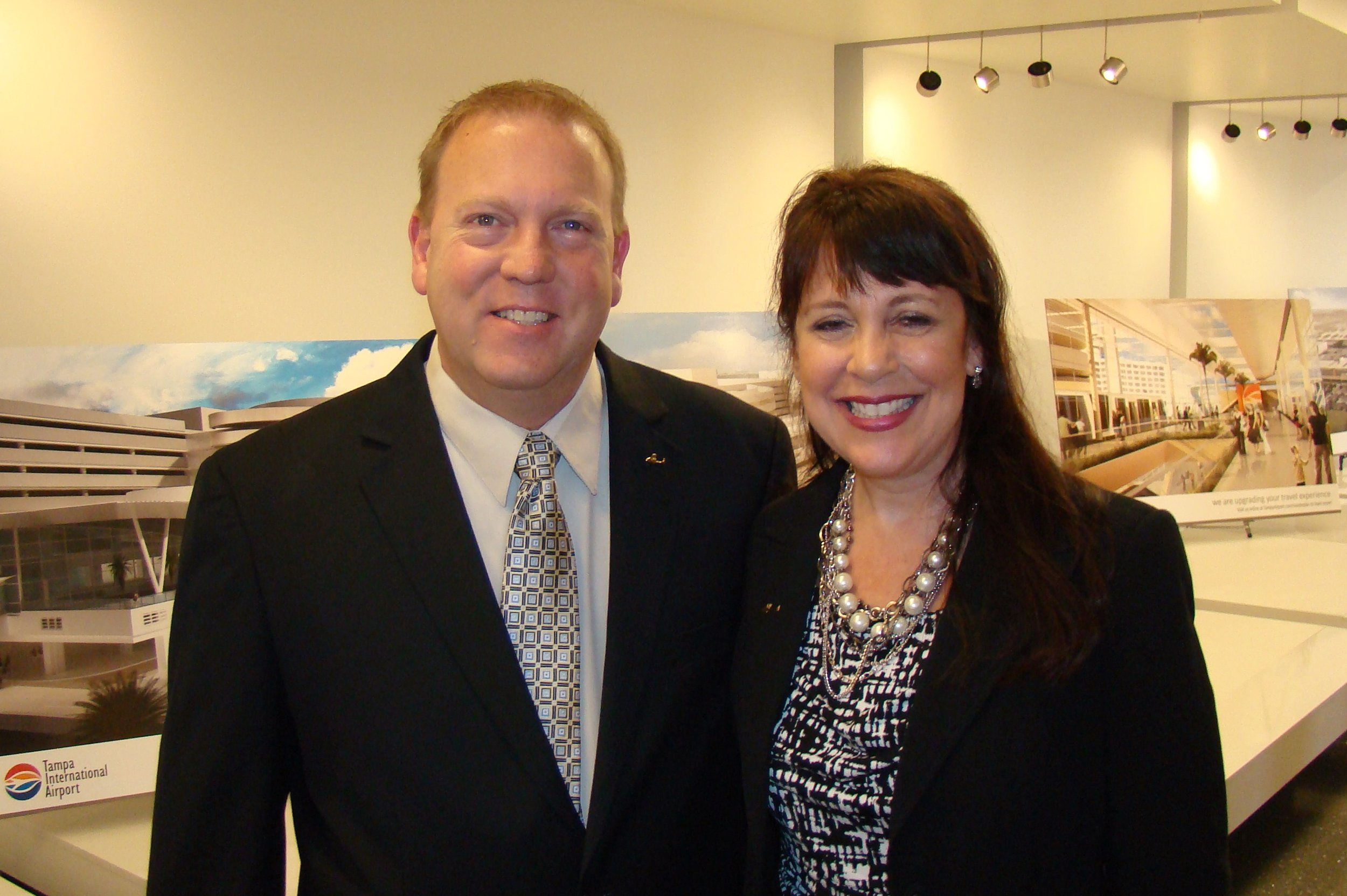 Co-Chairs Bill McGrew and Alison Hoefler at Press Conference, 21 May '14.JPG