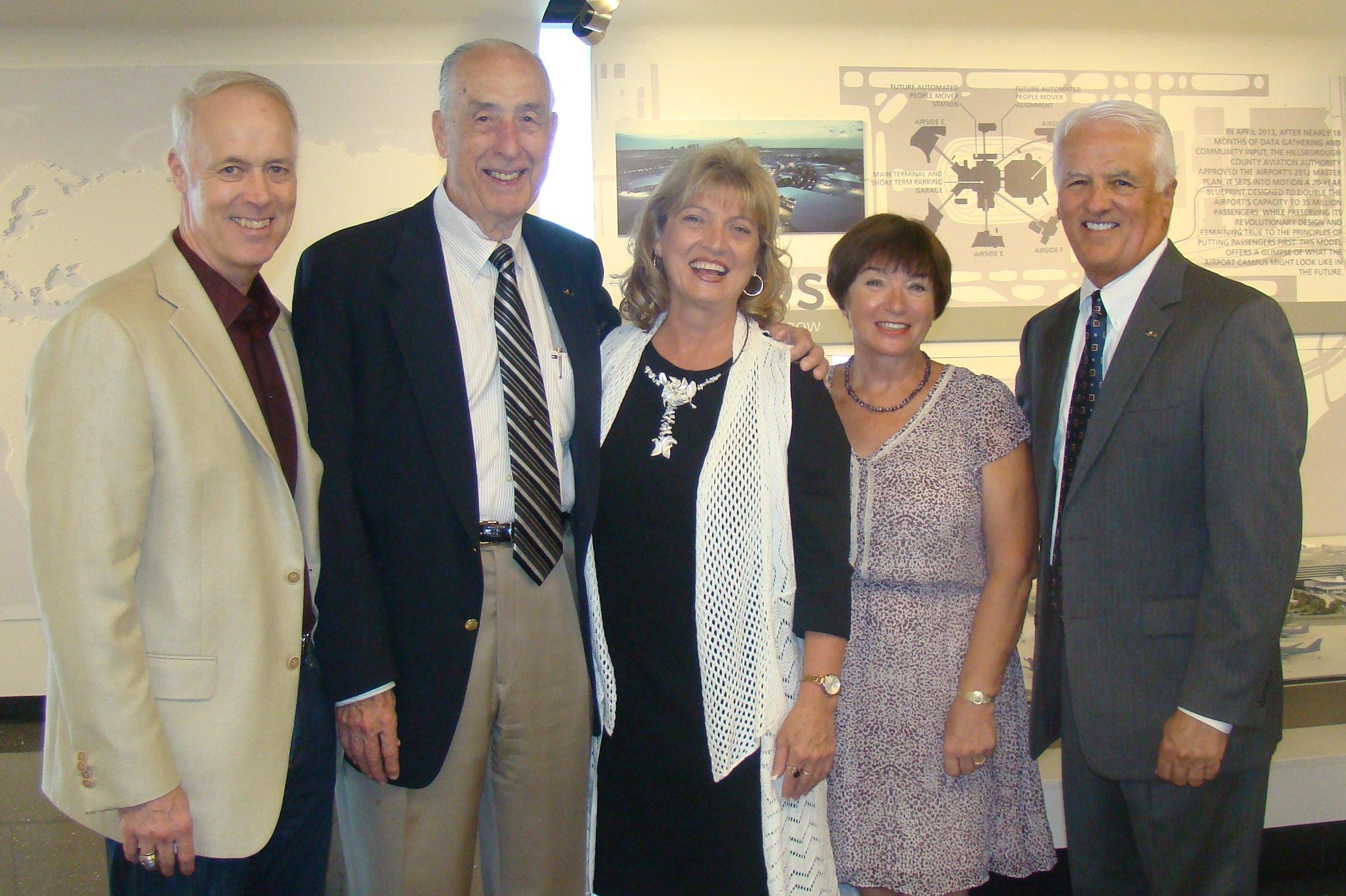 Dick, Me, Colleen Picard, Anne Menke & John O'Connor - 1, 30 Oct '14.JPG