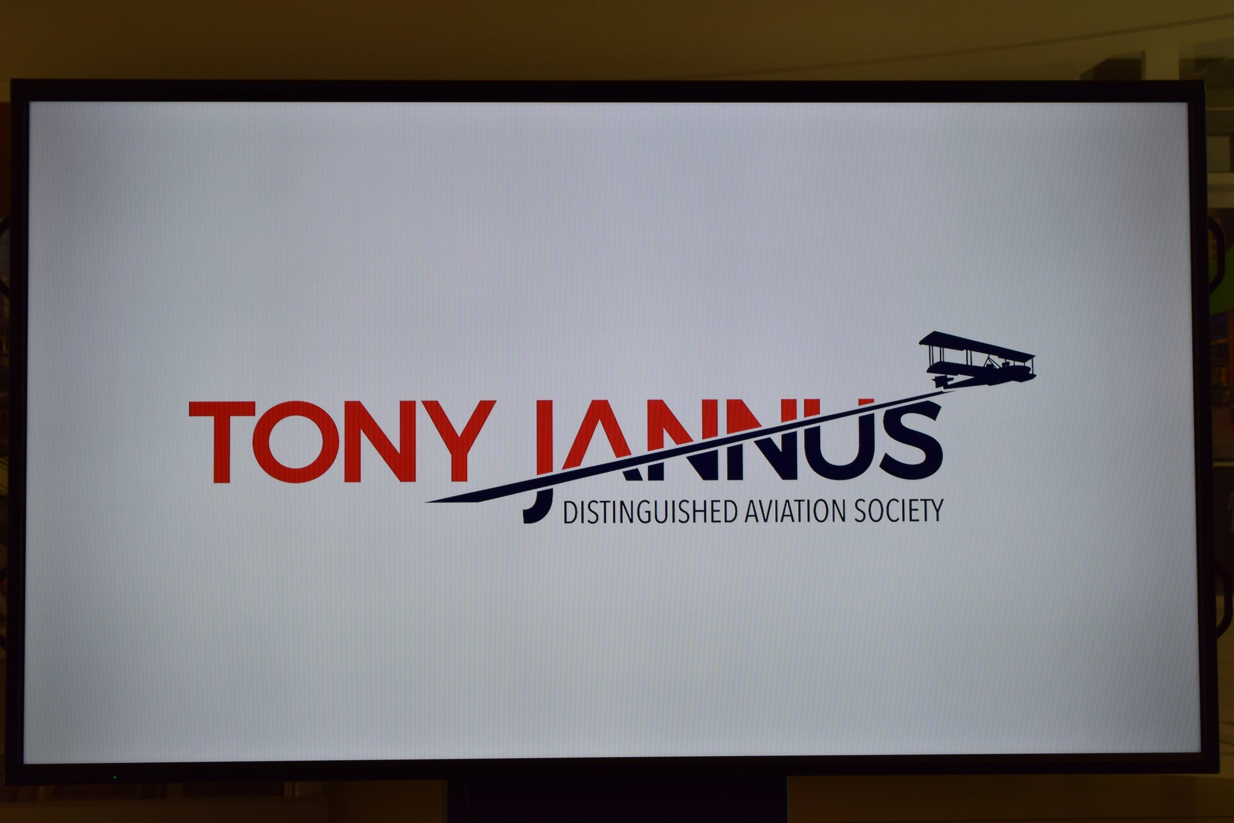 New Tony Jannus Logo at Press Conference, 9 May '17.JPG