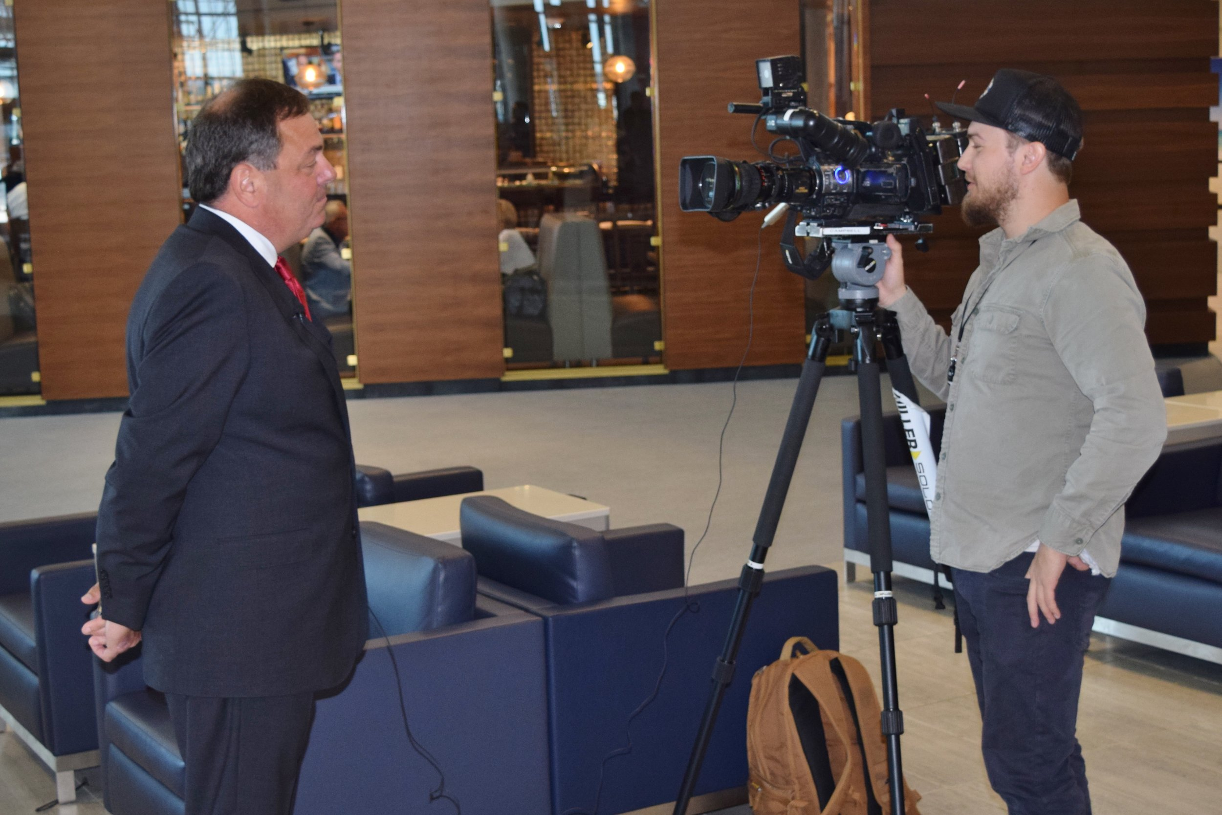 Paul Piro - TV interview - after Press Conference, 9 May '17.JPG