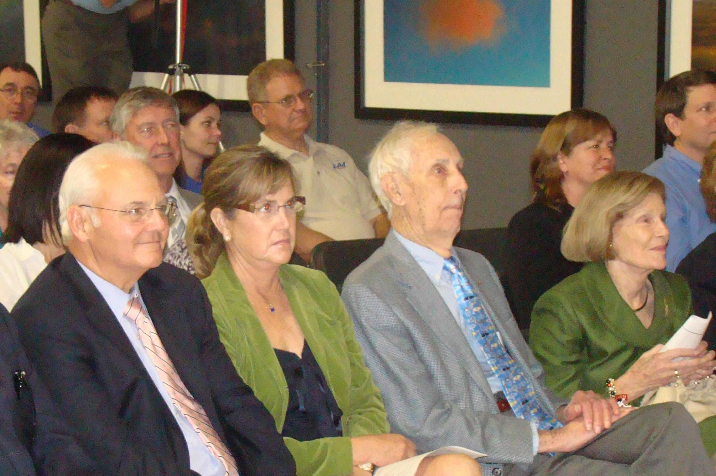 Bill Krusen & Family at Induction Ceremony - 2, 28 Jan '12.JPG