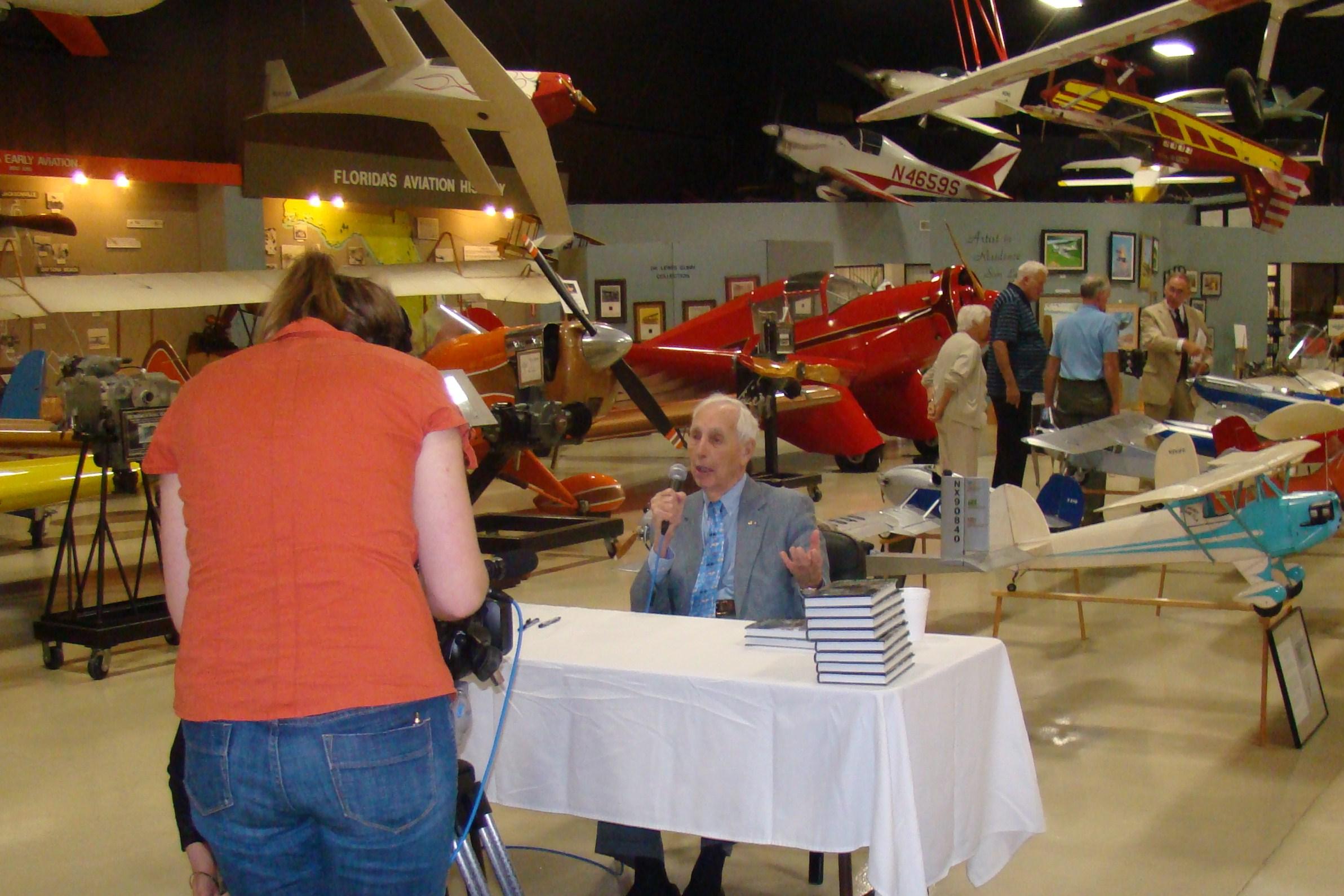 Bill Krusen being Interviewed after FAHOF Induction Ceremony, 28 Jan '12.JPG