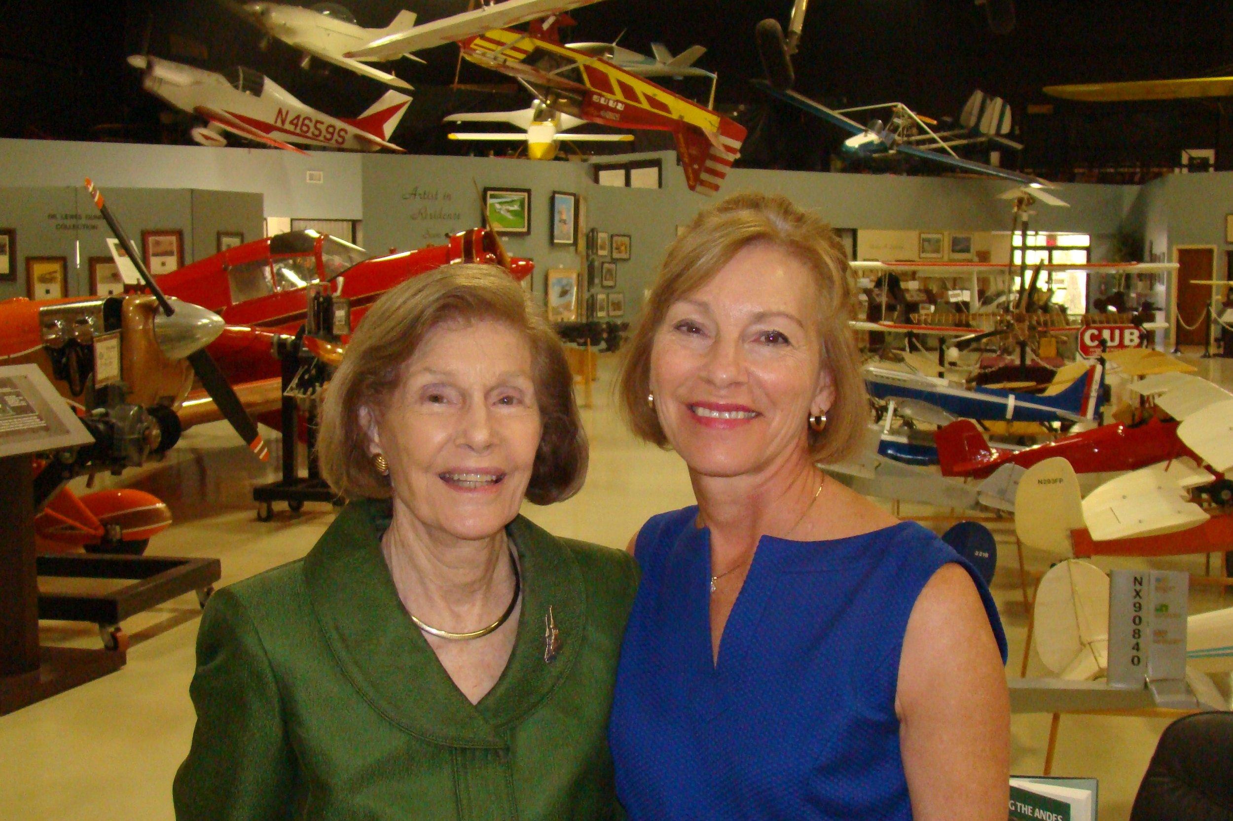 Dottie Krusen & Rosie O'Connor after FAHOF Induction Ceremony, 28 Jan '12.JPG