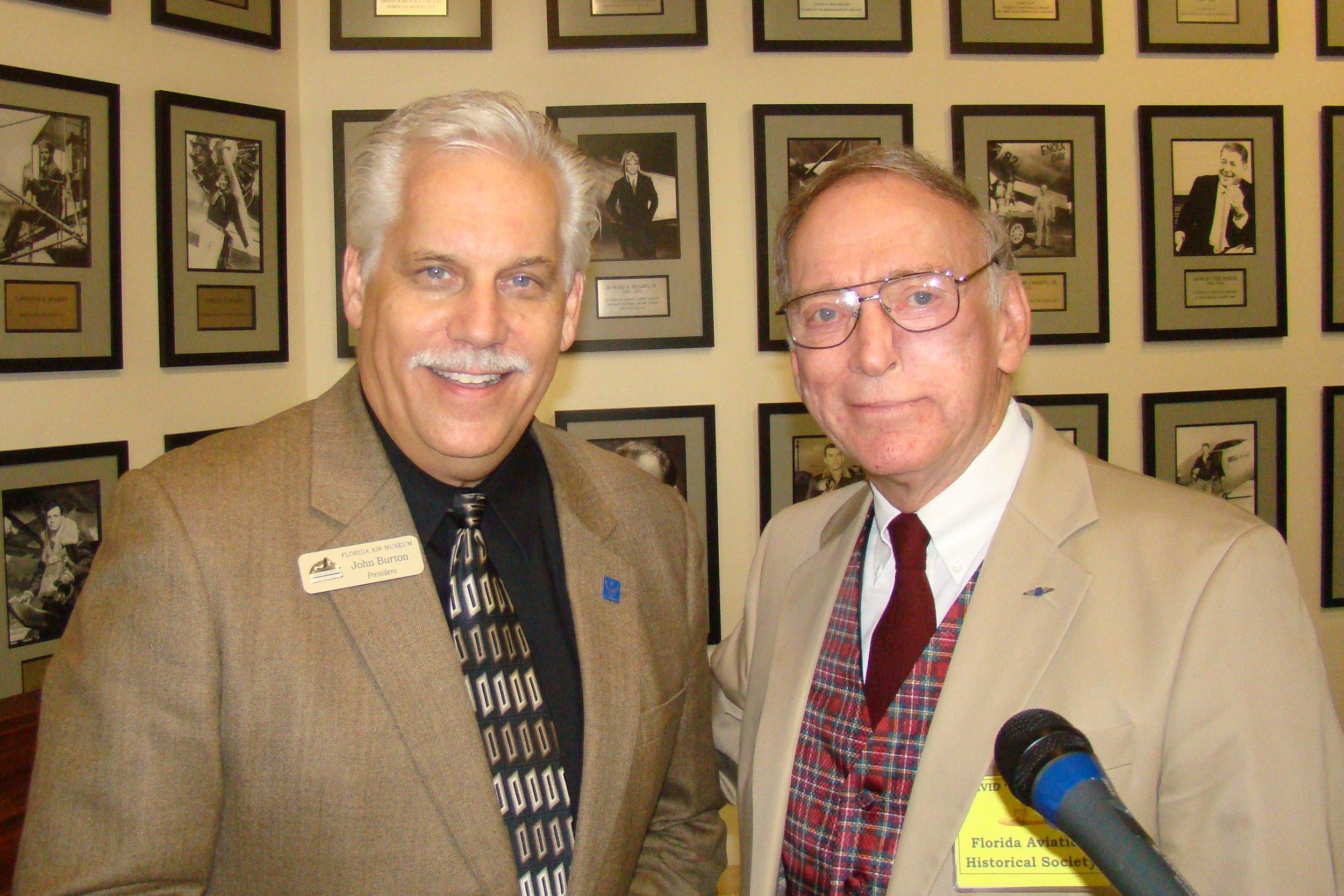 John Burton & David McLay; Host and M. C., 28 Jan '12.JPG