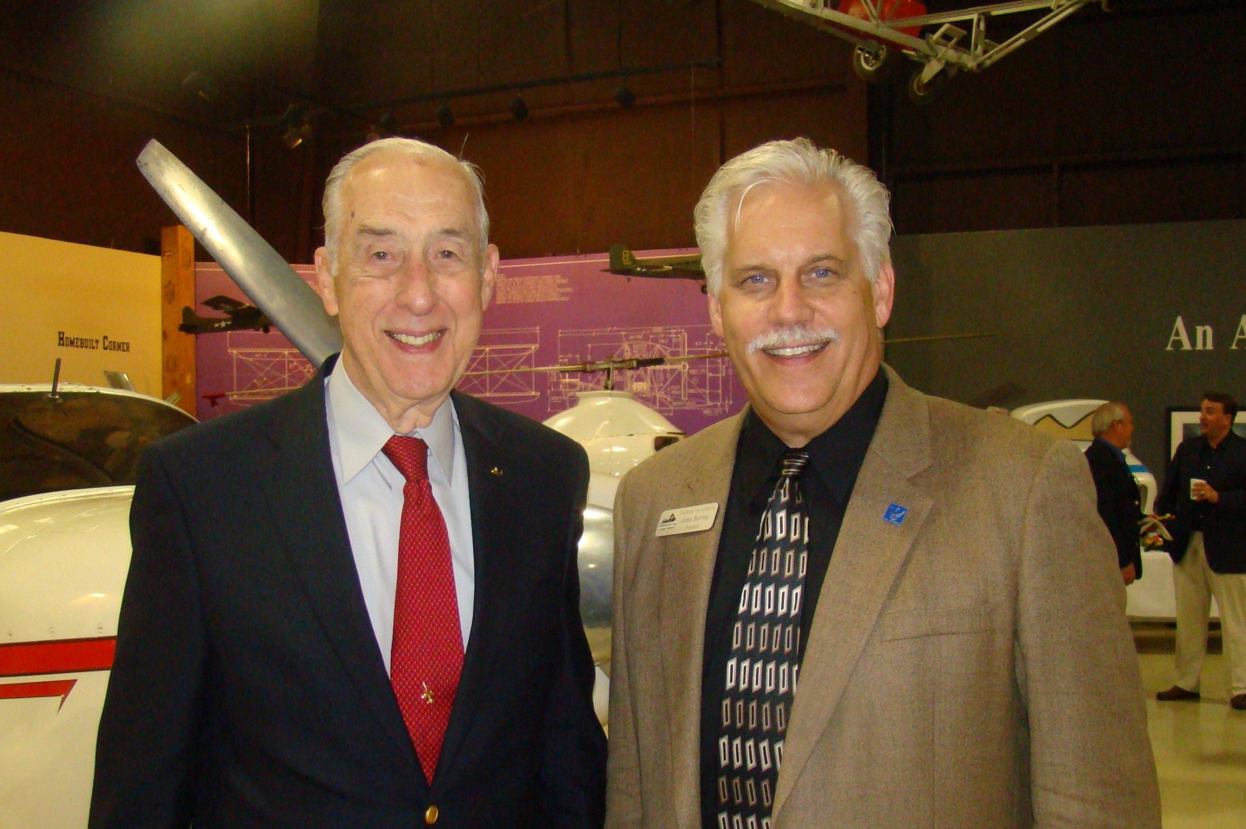 John Burton & Dick Newton after FAHOF Induction Ceremony, 28 Jan '12.JPG