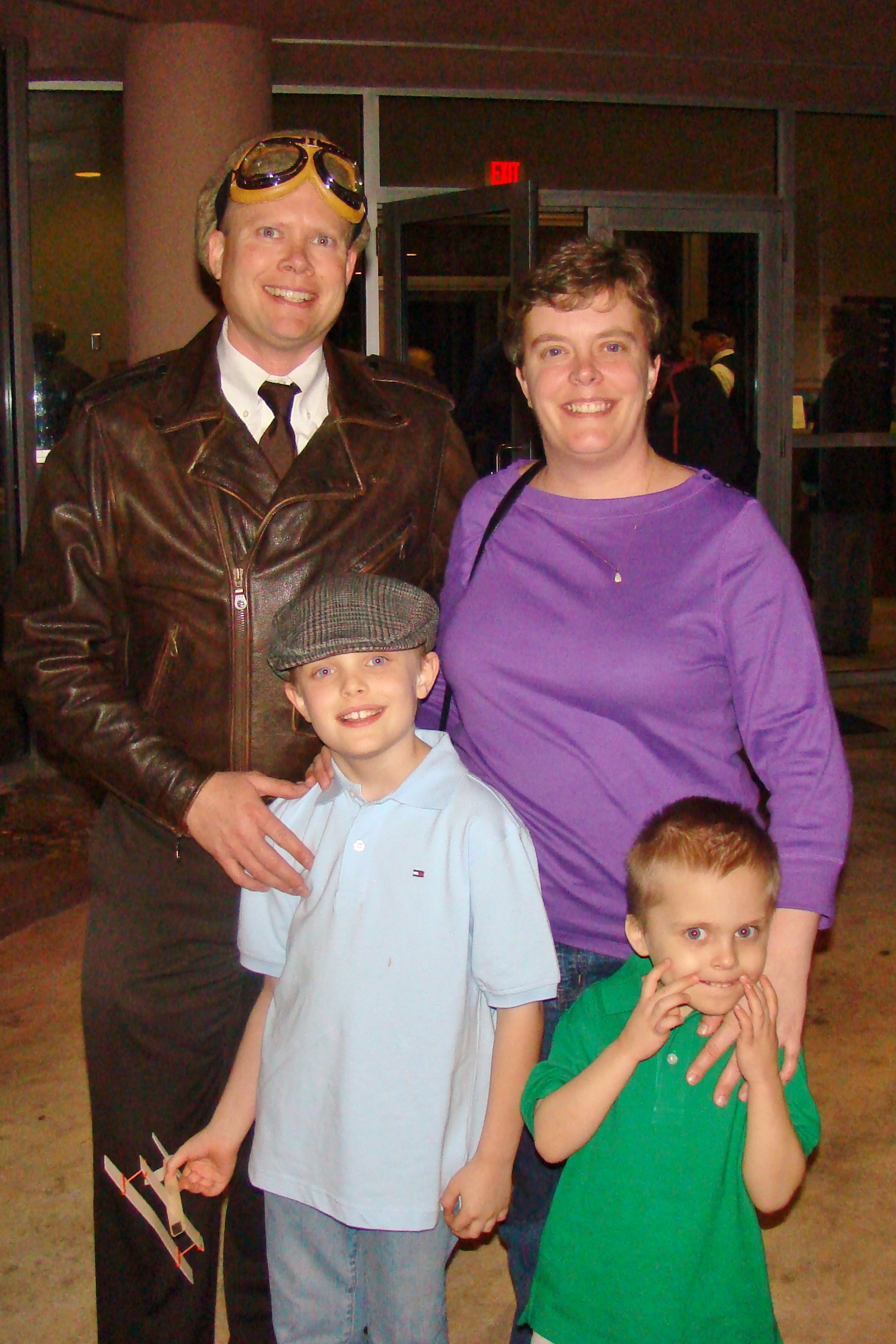 Chris & Andie Minner with Michael & Ernie - 1, 31 Dec '13.JPG