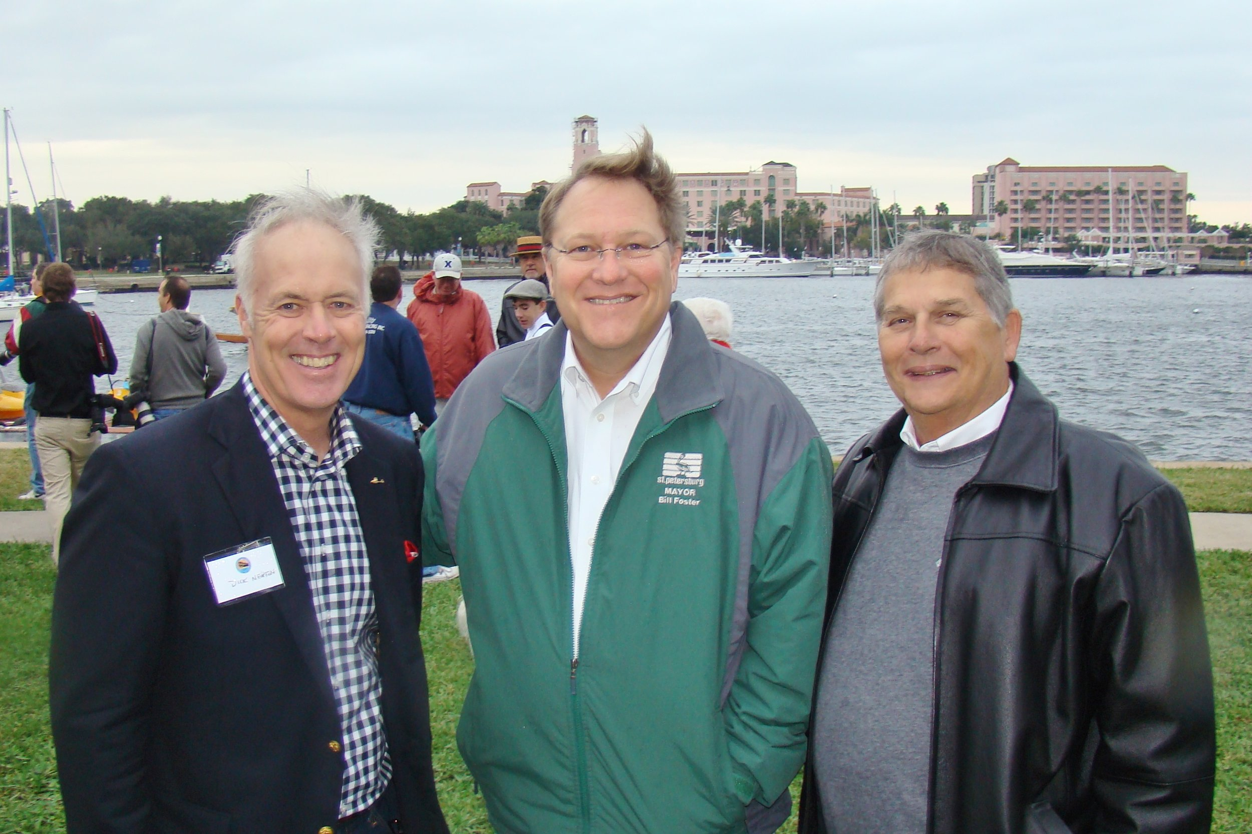 Dick Newton, III, Mayor Bill Foster, & Councilman Bill Dudley - 2, 1 Jan '14.JPG