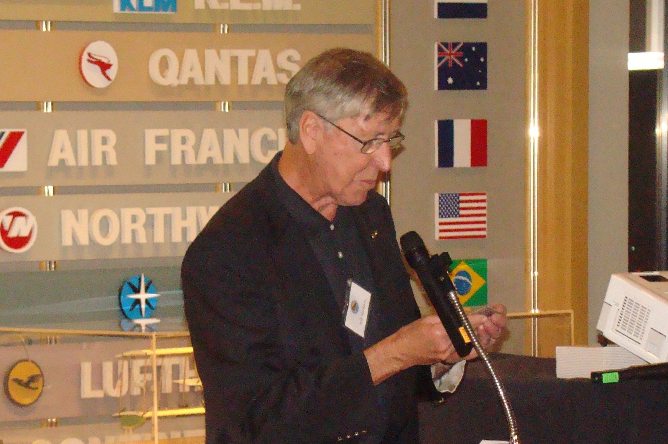 Dr. Will Michaels @ First Night-First Flight Presentation in SPMOH, 31 Dec '13.JPG