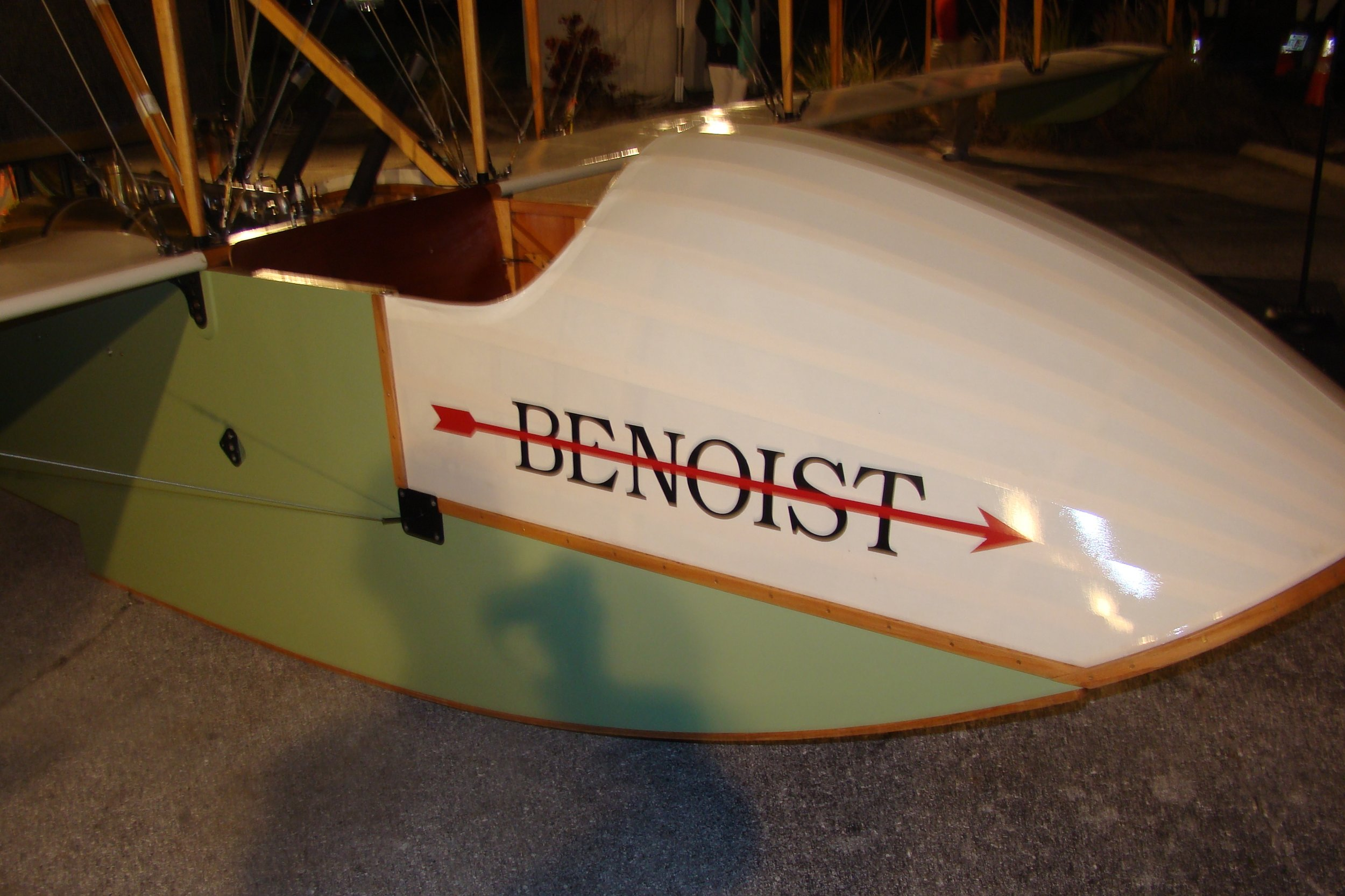 Nose of Kermit Weeks' Benoist Airboat, 31 Dec '13.JPG