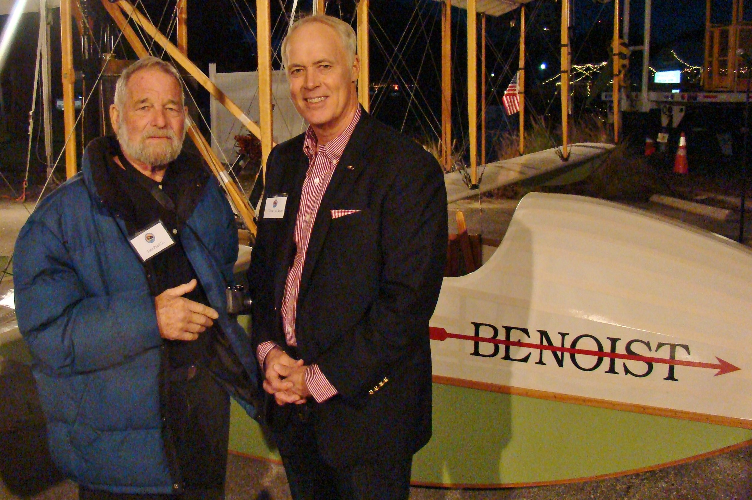 Tom Pheil, Sr. & Dick Newton, III by Benoist Airboat - 2, 31 Dec '13.JPG
