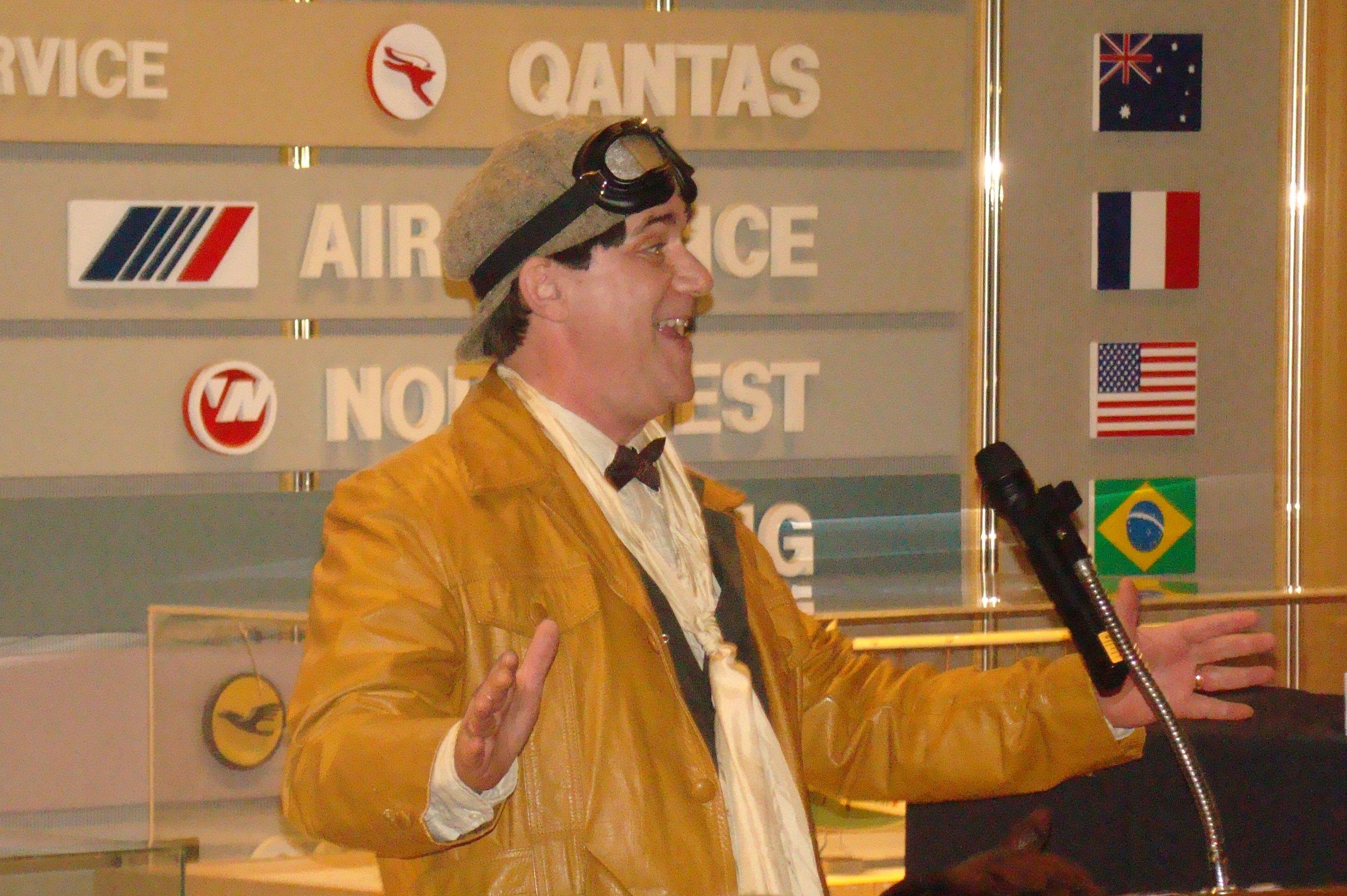Tony Jannus - a. k. a., Michael Norton - @ First Night-First Flight Presentation in SPMOH, 31 Dec '13.JPG