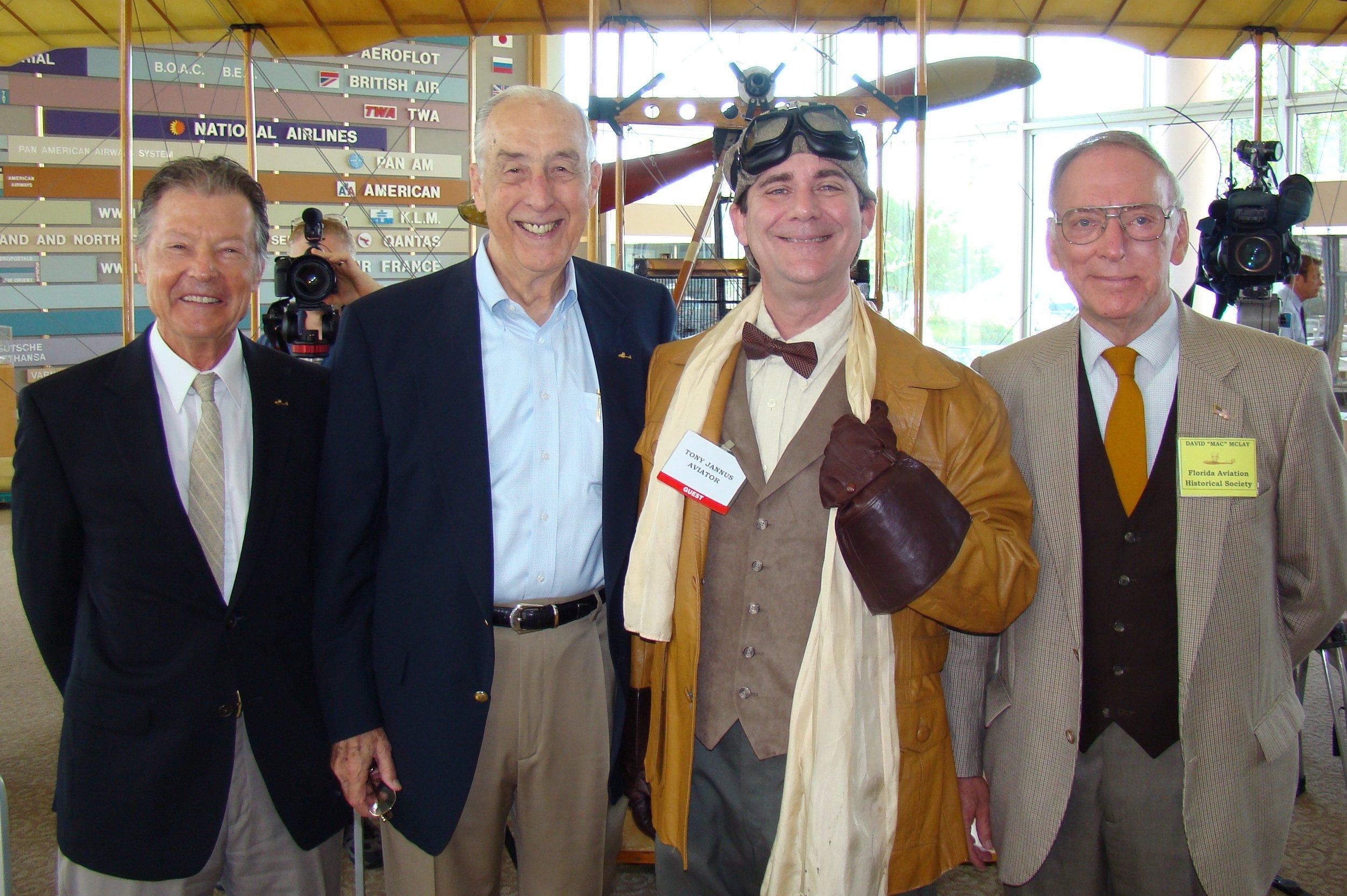 Al Michejda, Dick Newton, Tony Jannus & David McLay, 14 Jun '12.JPG