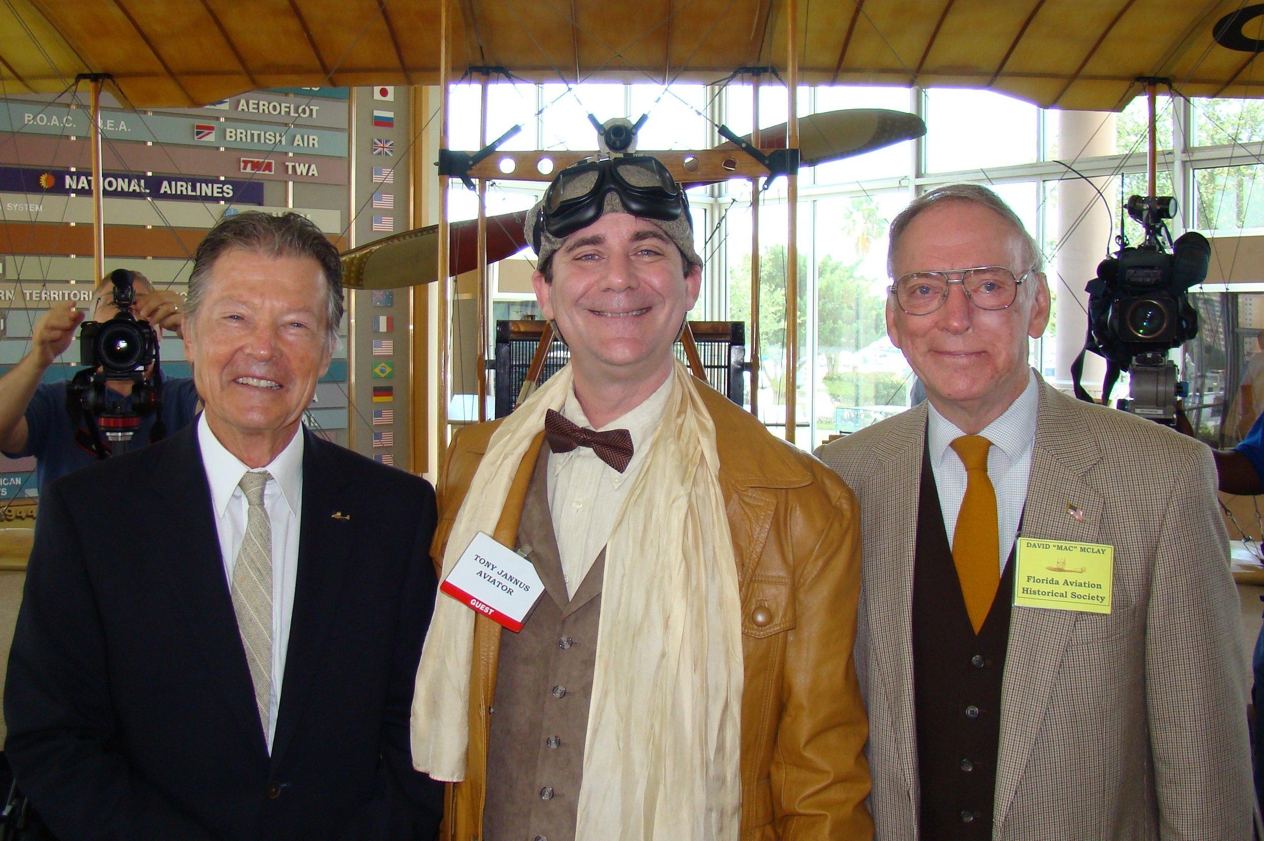 Al Michejda, Tony Jannus & David McLay, 14 Jun '12.JPG
