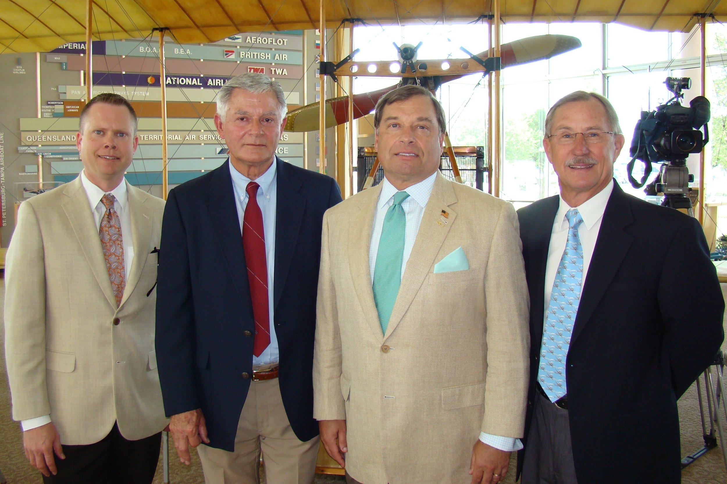 Chris Minner, Bob Knight, Tanker Snyder & John 'Lites Leenhouts - 2, 14 Jun '12.JPG
