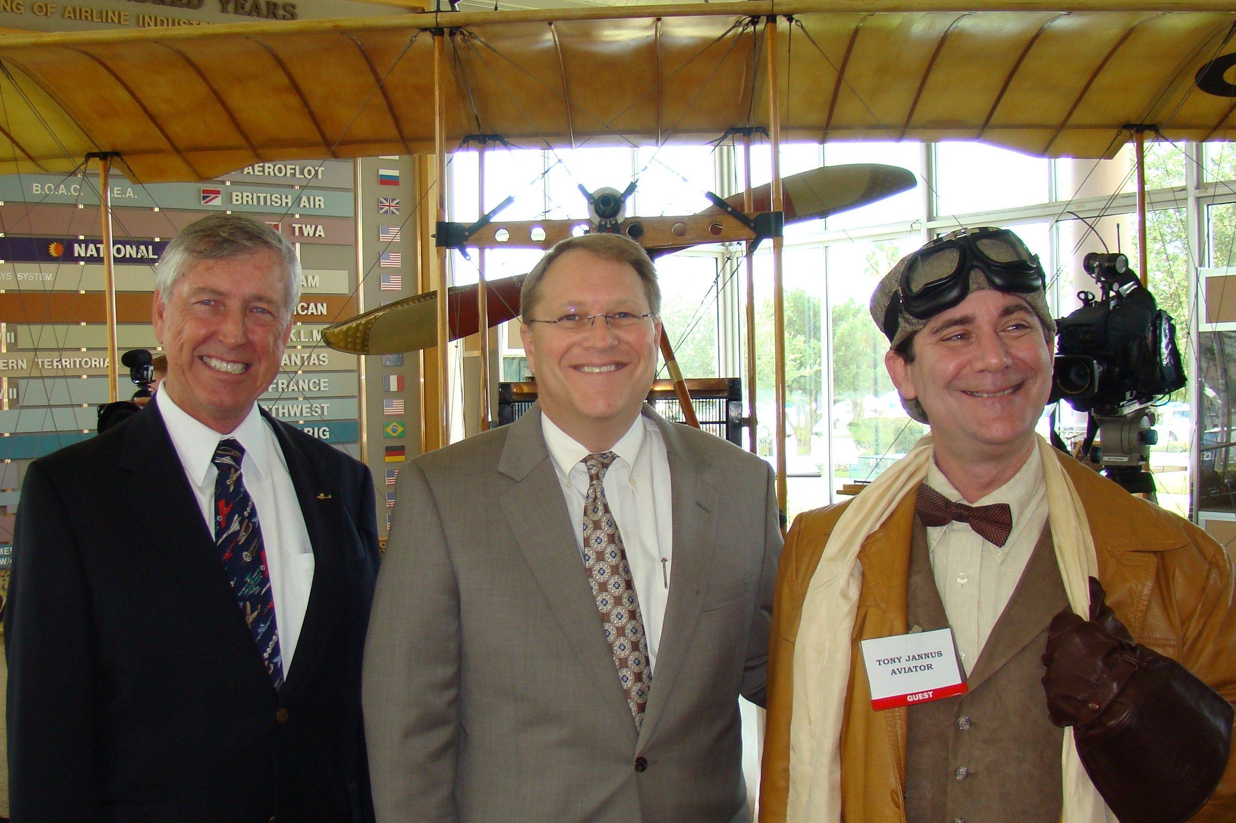 Will Michaels, Mayor Bill Foster & Tony Jannus - 1, 14 Jun '12.JPG