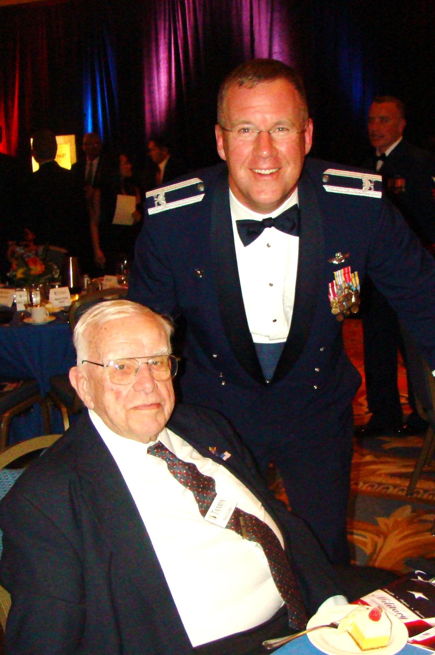 Col. Larry Martin, 6th AMWCC with Bob Cutler, 16 Feb '10.JPG