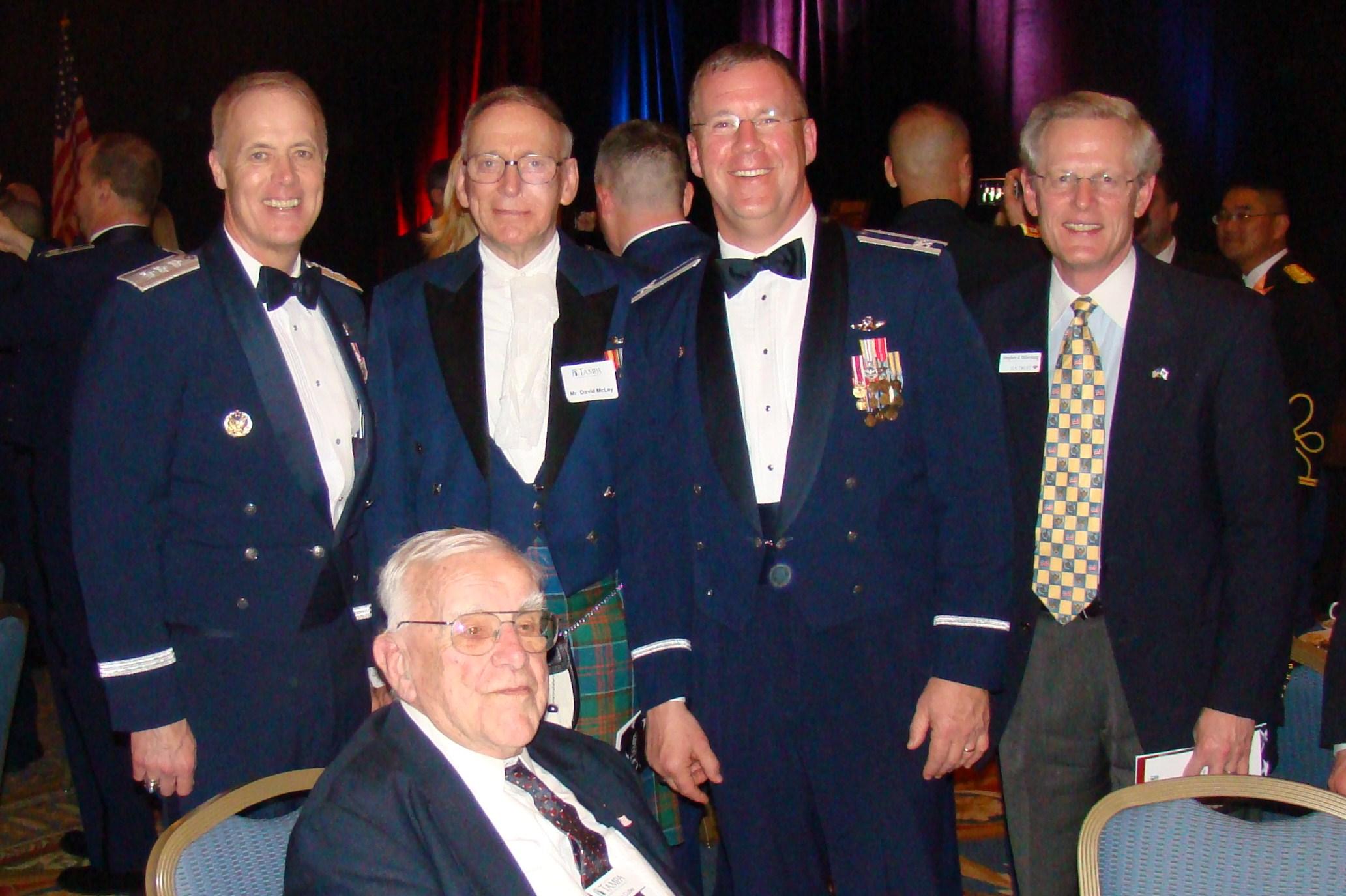 Dick, David McLay, Larry Martin & Steve Dillenburg with Bob Cutler, 16 Feb '10.JPG