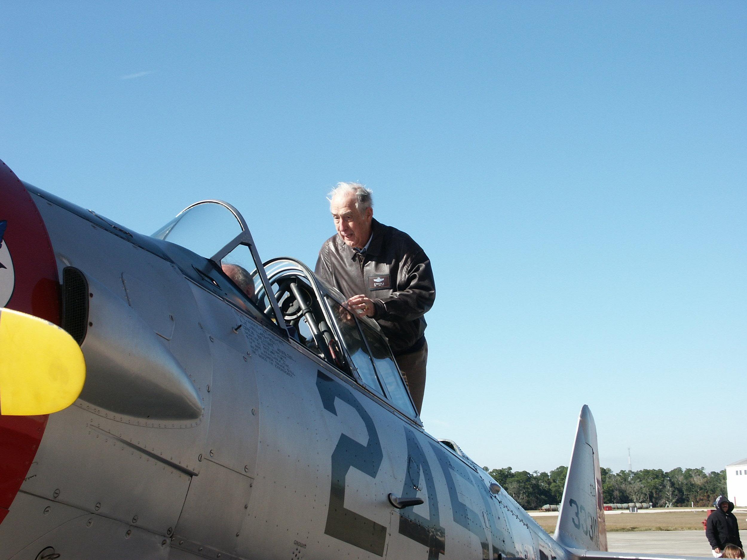 Getting in T-6 @ Fantasy of Flight, 6 Jan '10.jpg