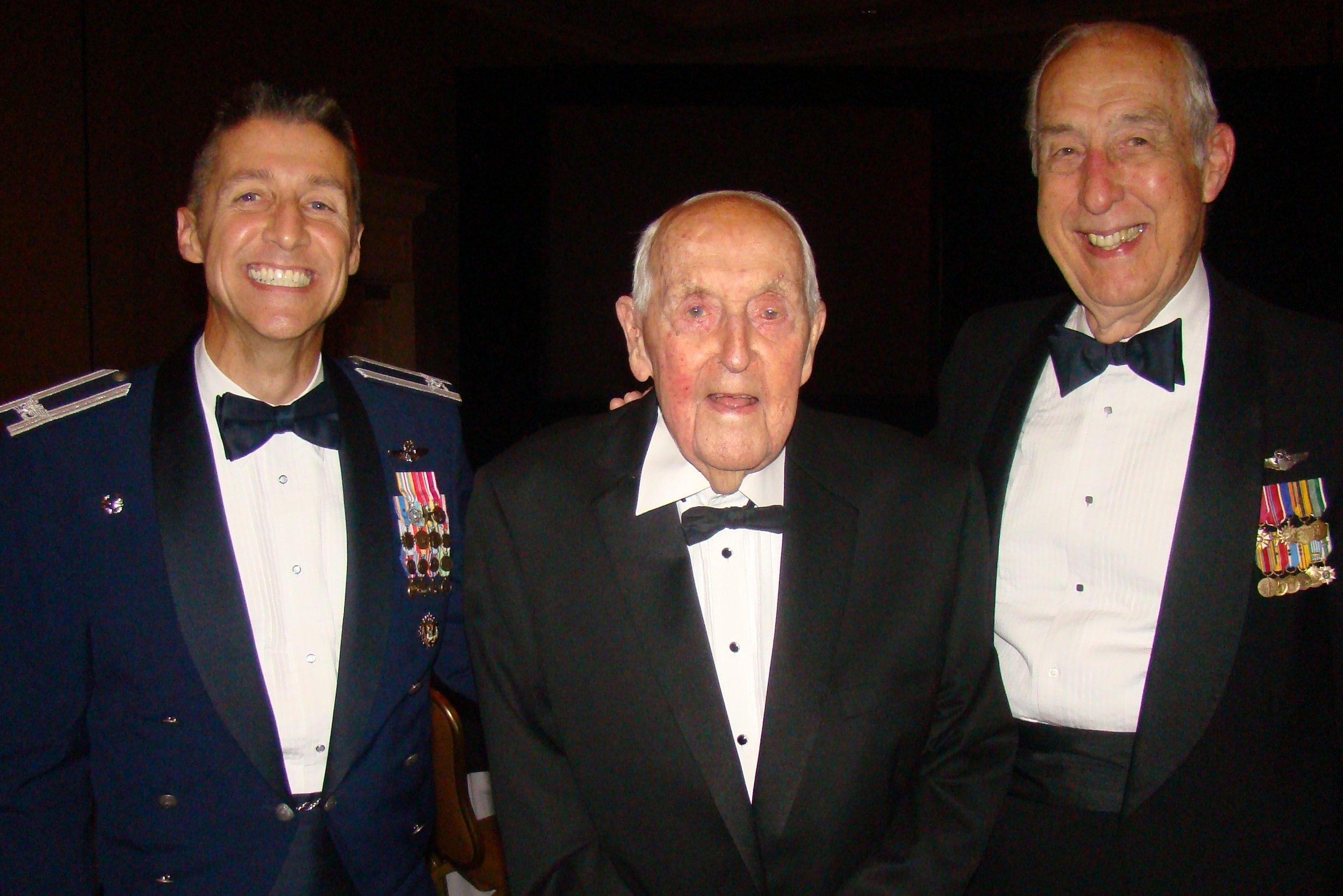 Colonel Scott DeThomas, Sir Lenox Hewitt & Dick Newton, 15 Nov '13.JPG