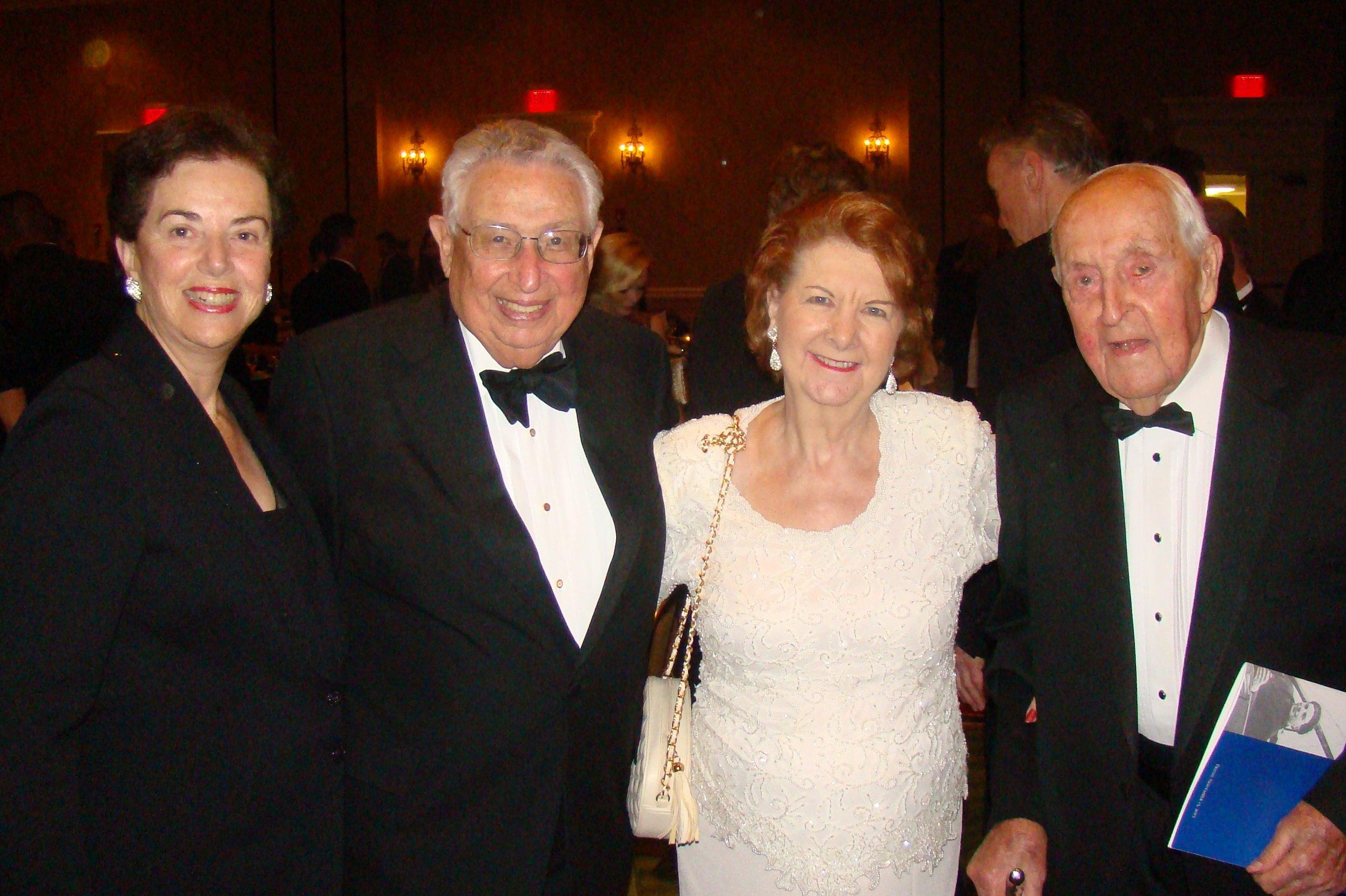 Nancy & Edwin Colodny, Dorothy Derrick and Sir Lenox Hewitt, 15 Nov '13.JPG